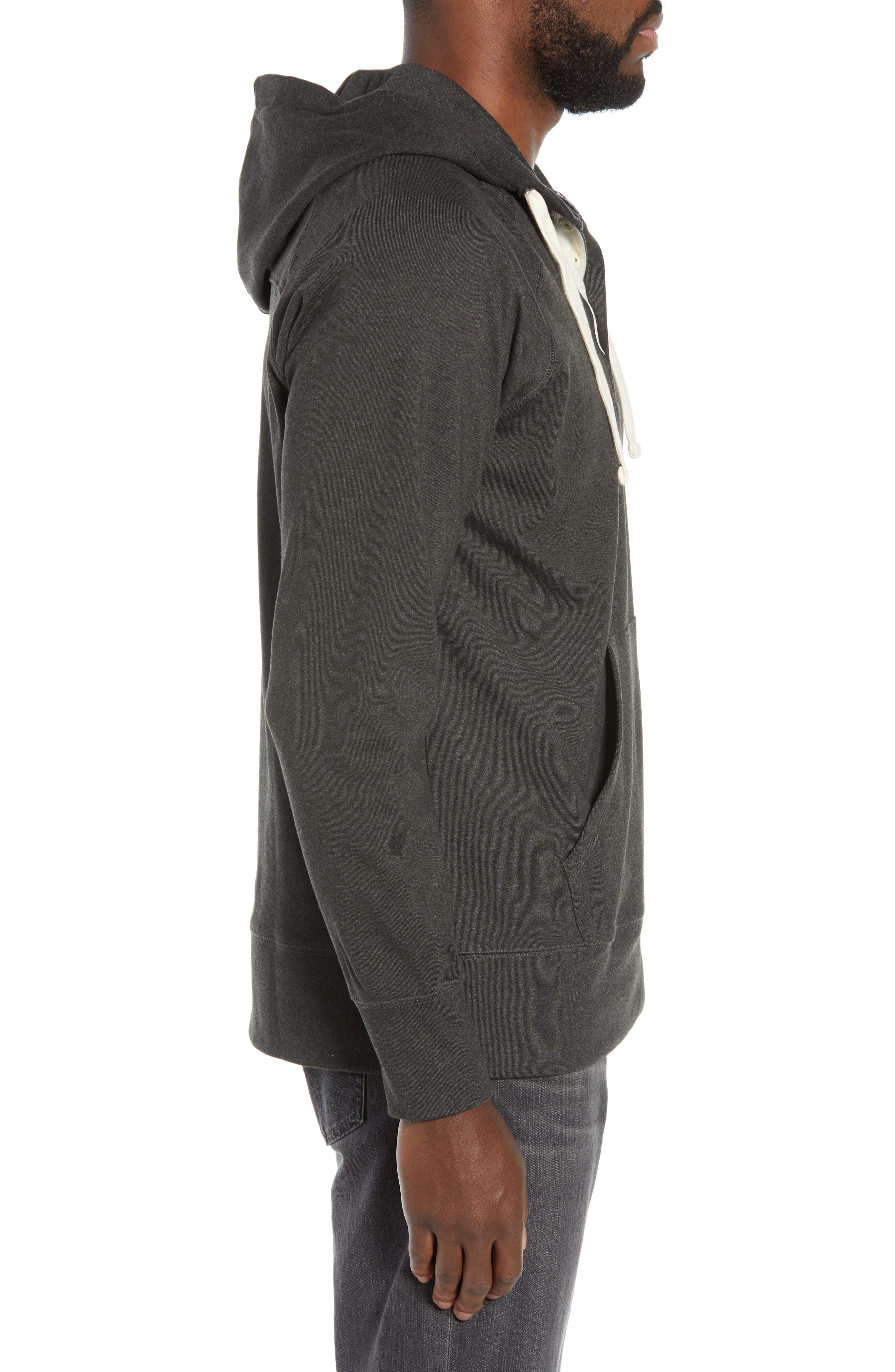 Puremeso Pullover Hoodie,                             Alternate thumbnail 3, color,                             CHARCOAL