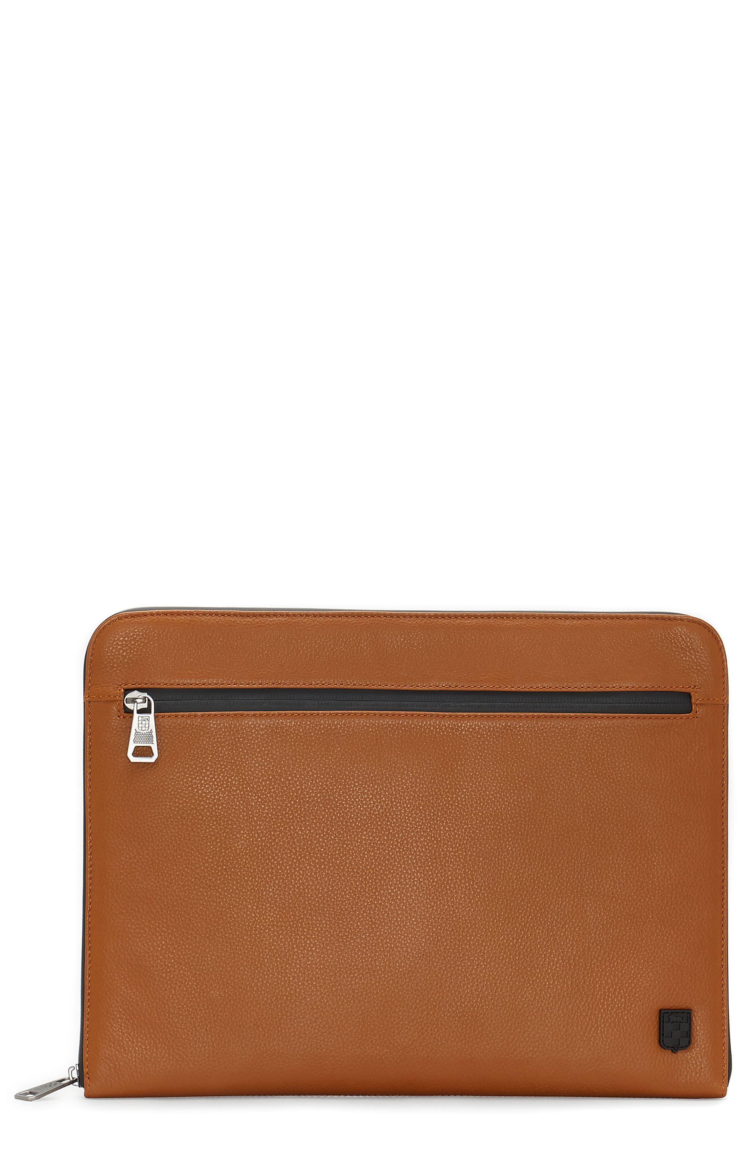Purio Leather Portfolio,                             Main thumbnail 1, color,                             201