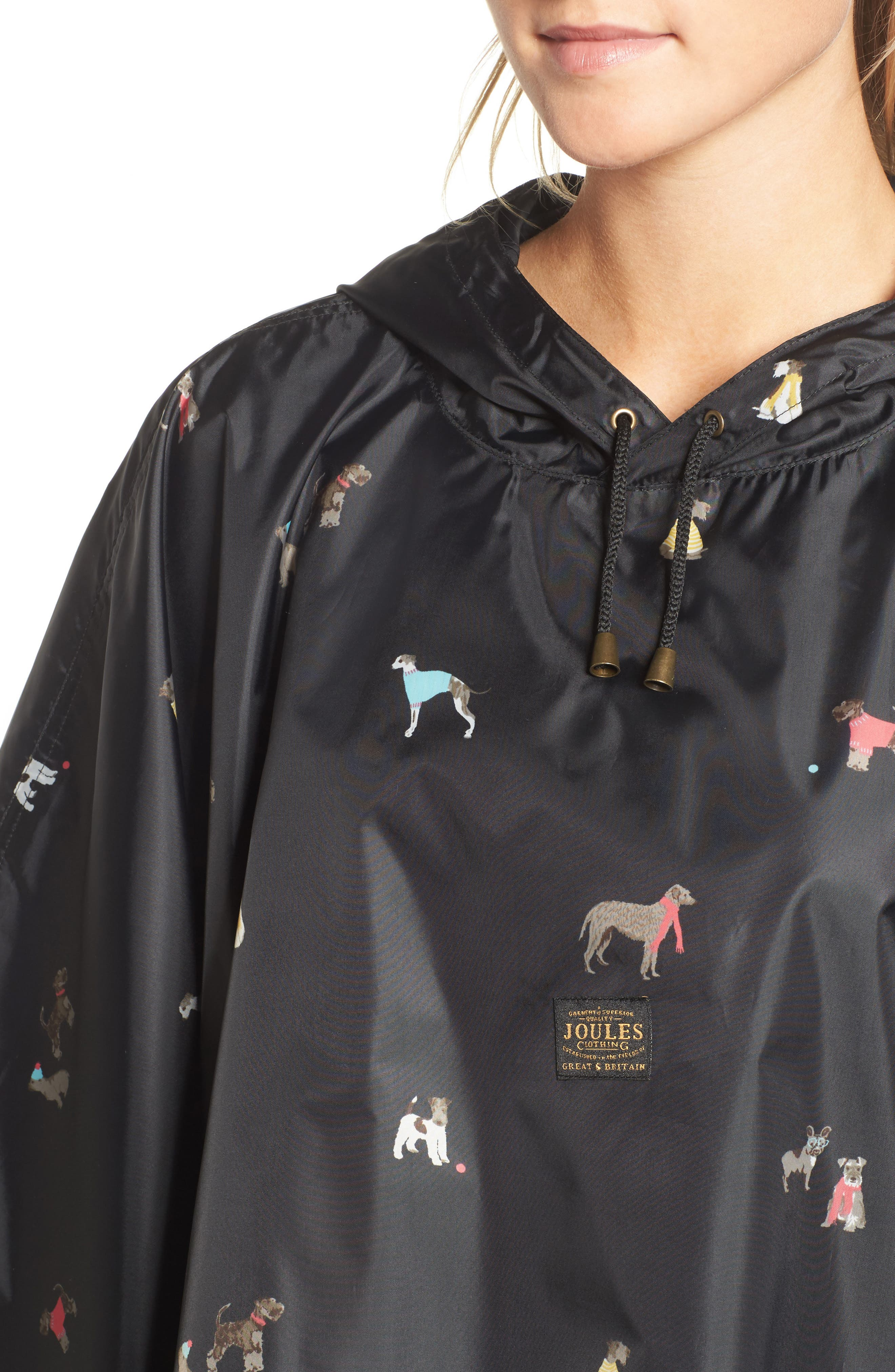 Right as Rain Print Packable Hooded Poncho,                             Alternate thumbnail 4, color,                             015