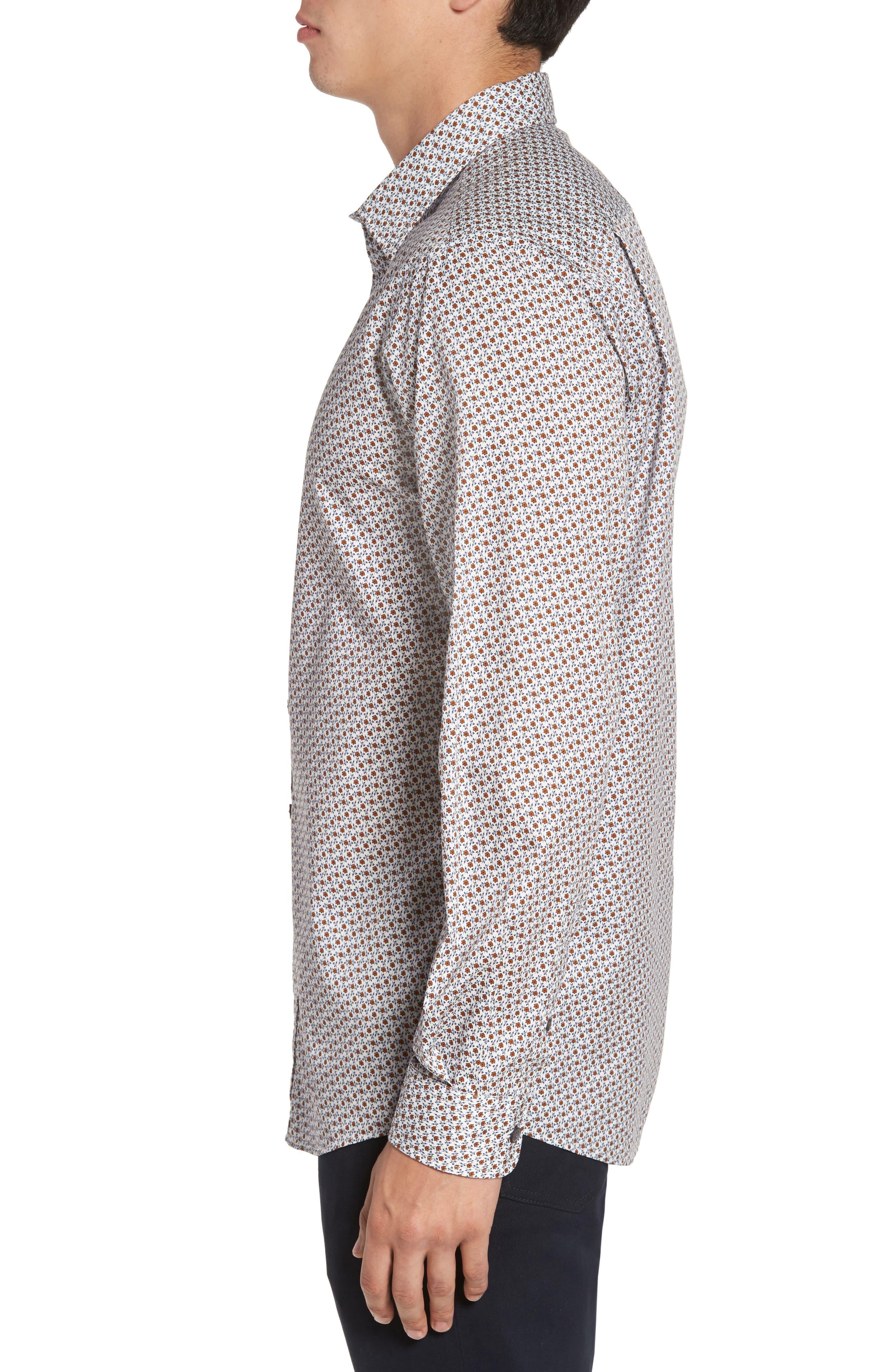 Regular Fit Cascade Sport Shirt,                             Alternate thumbnail 3, color,                             815