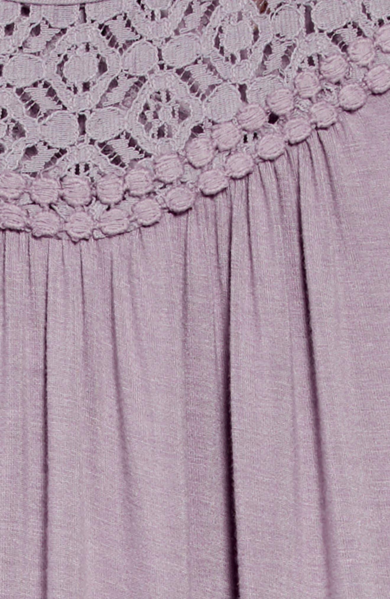 Annie Lace Trim Dress,                             Alternate thumbnail 3, color,                             060