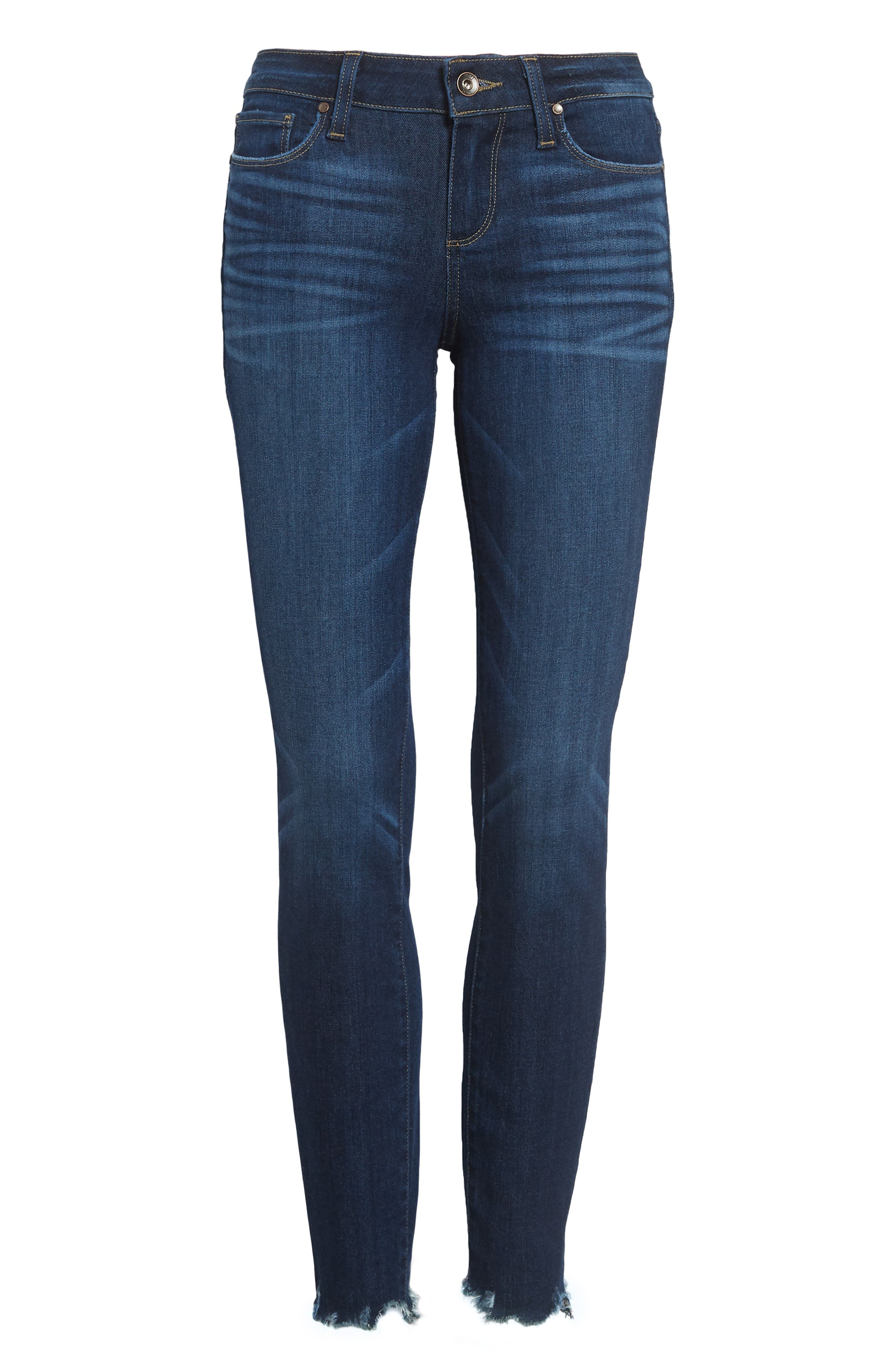 Verdugo Transcend Vintage Ankle Skinny Jeans,                             Alternate thumbnail 5, color,                             400