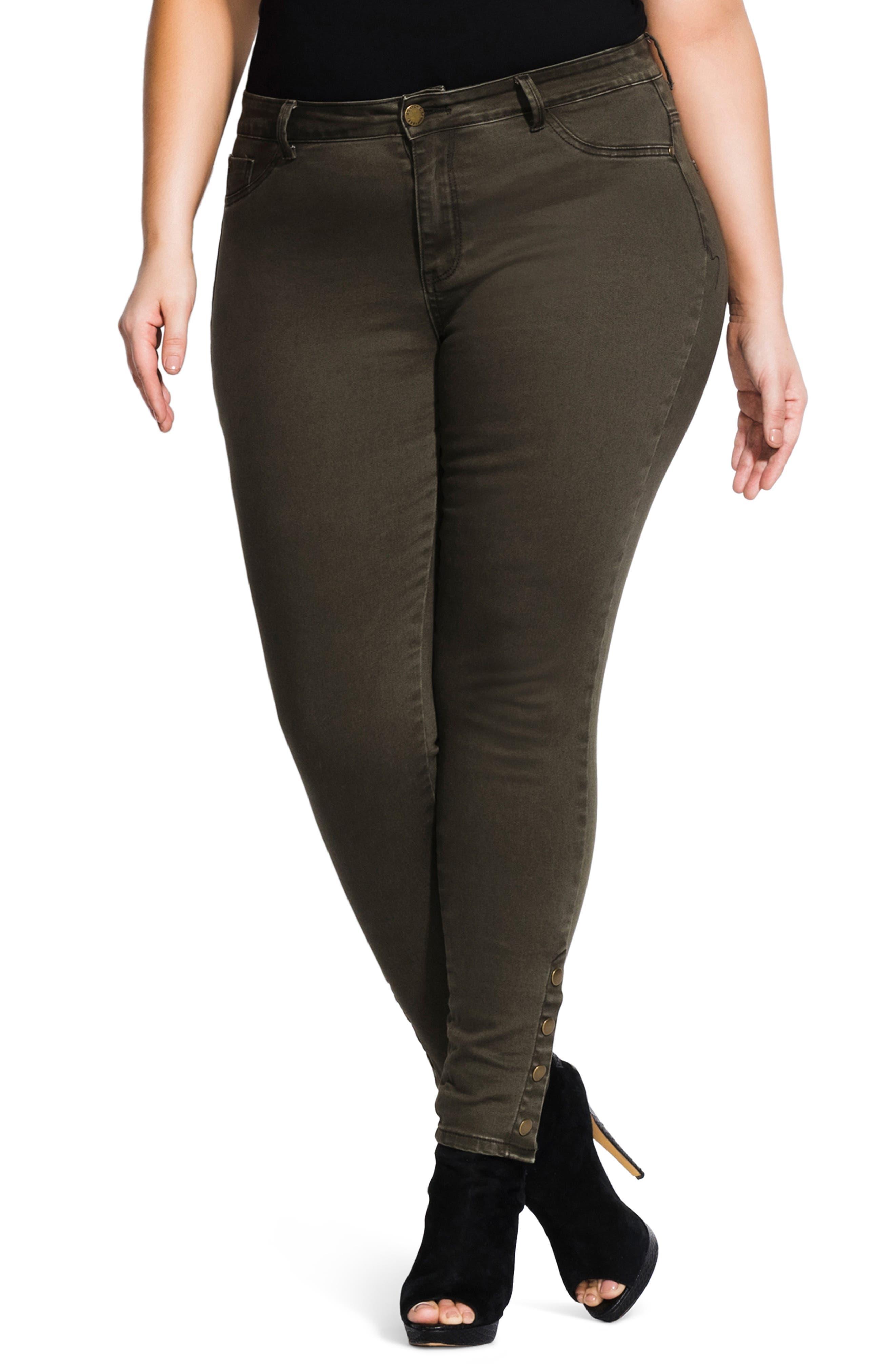 Plus Women's City Chic Button Me Up Jeans