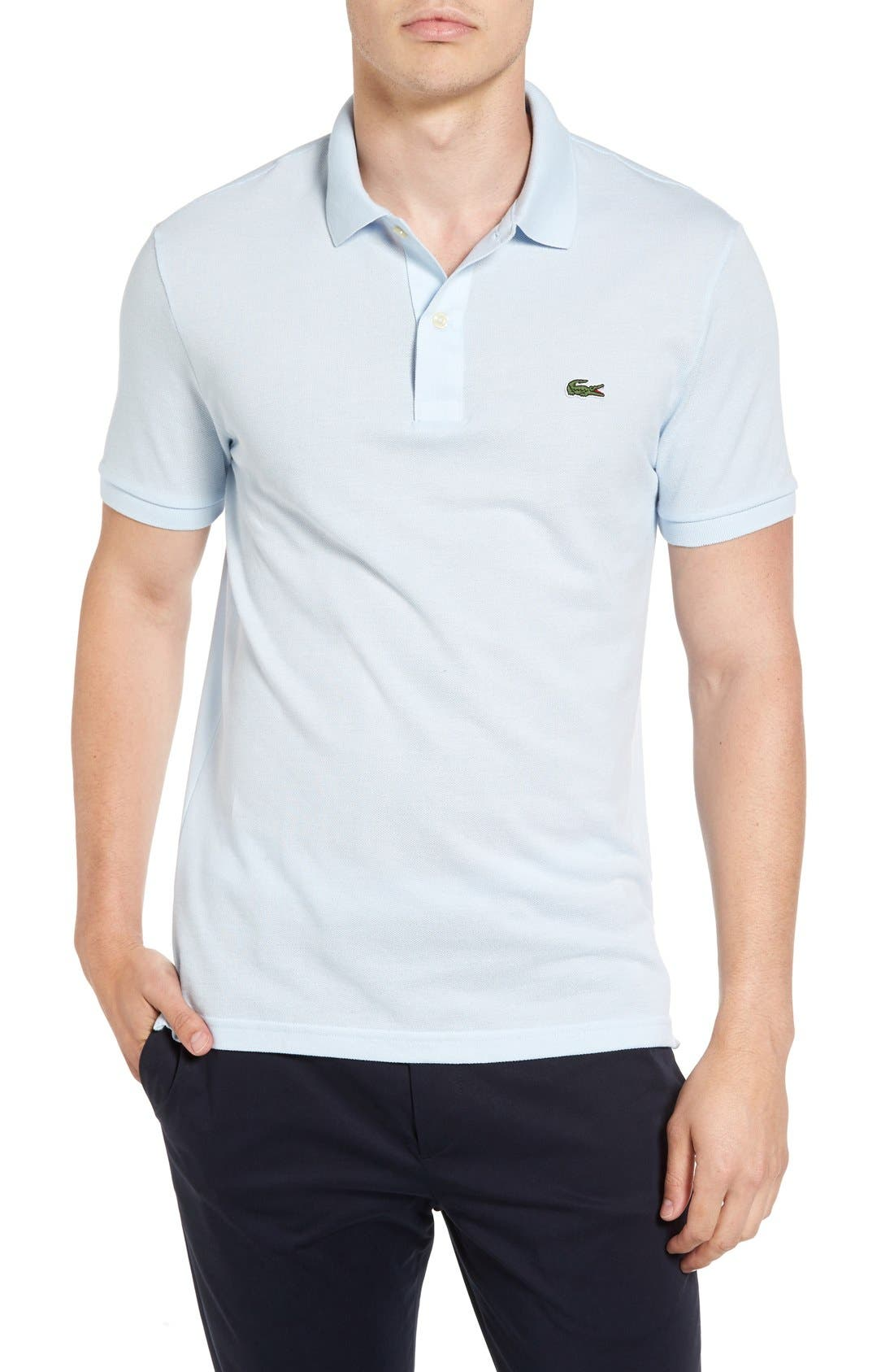 Slim Fit Piqué Polo,                             Main thumbnail 6, color,