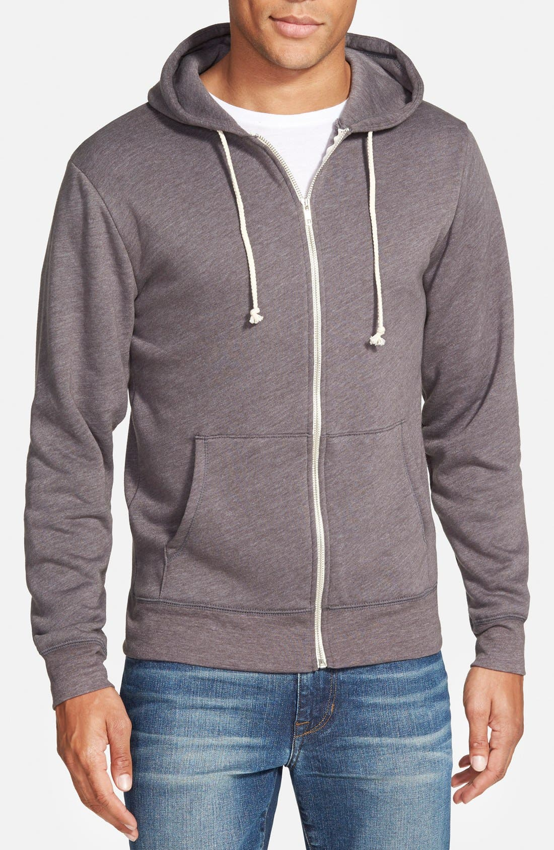 Threads for Thought Trim Fit Heathered Hoodie,                             Main thumbnail 2, color,