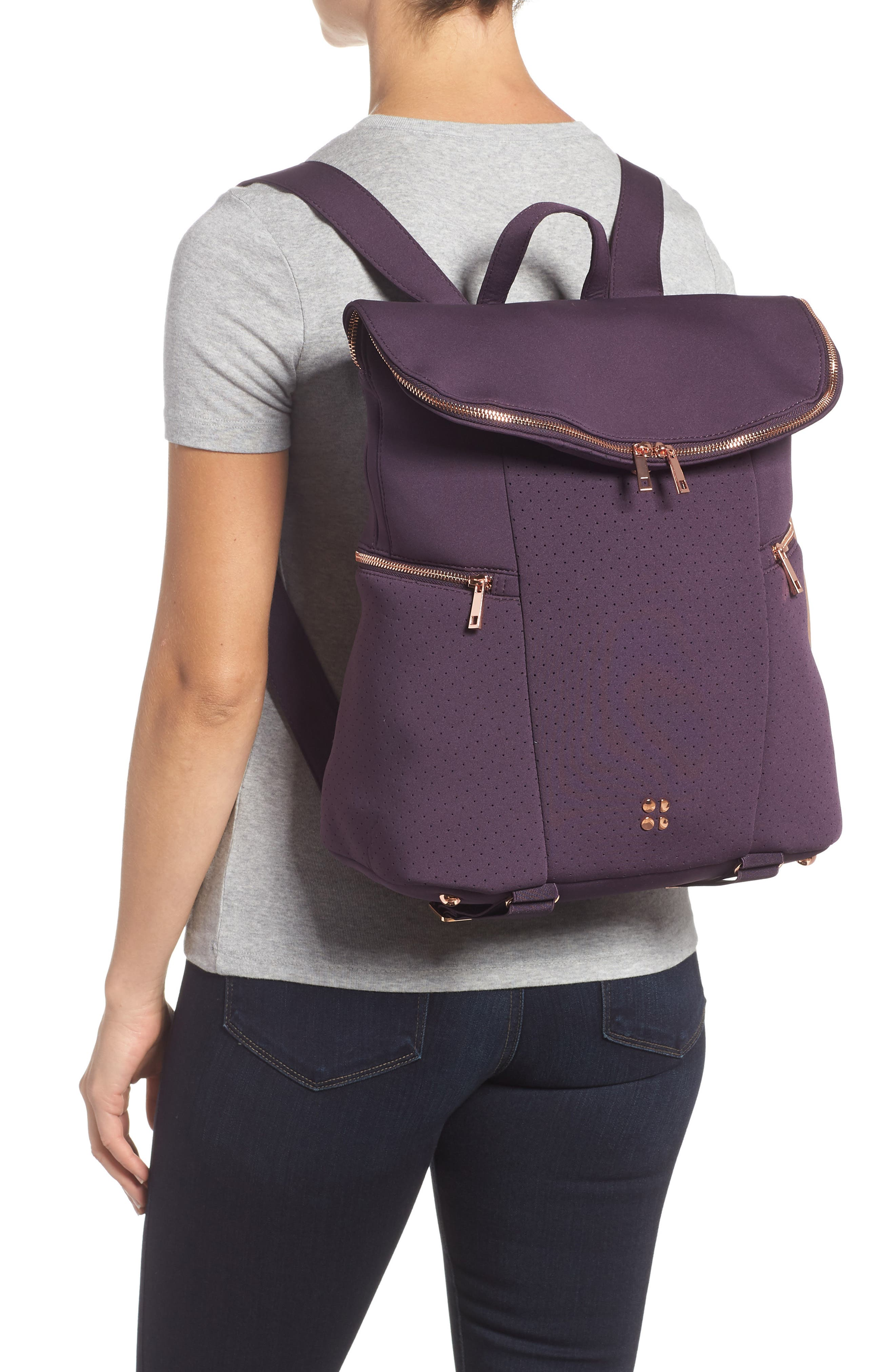 All Sport Backpack,                             Alternate thumbnail 2, color,                             AUBERGINE