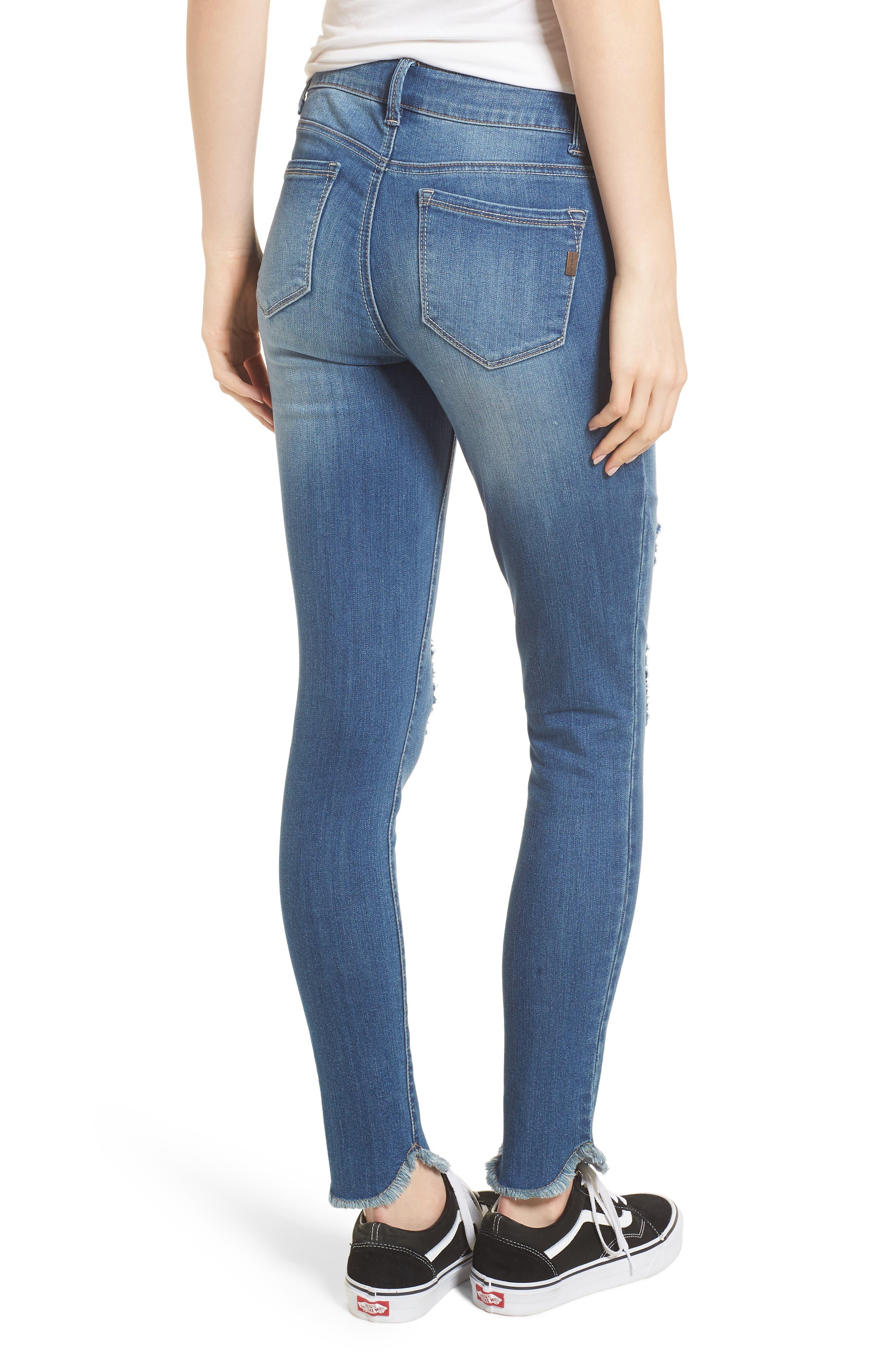 Raw Edge Skinny Jeans,                             Alternate thumbnail 2, color,                             426