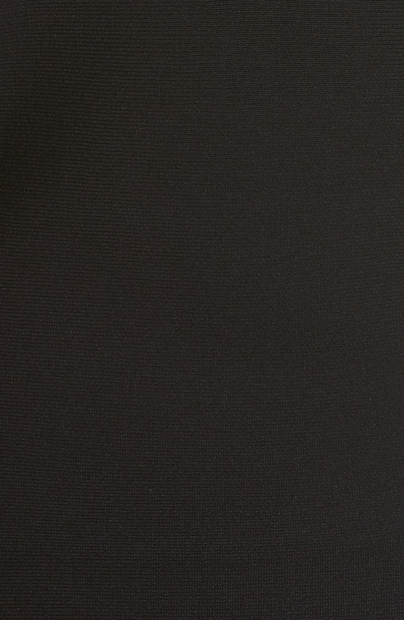 Cutout Detail Sheath Dress,                             Alternate thumbnail 5, color,                             001
