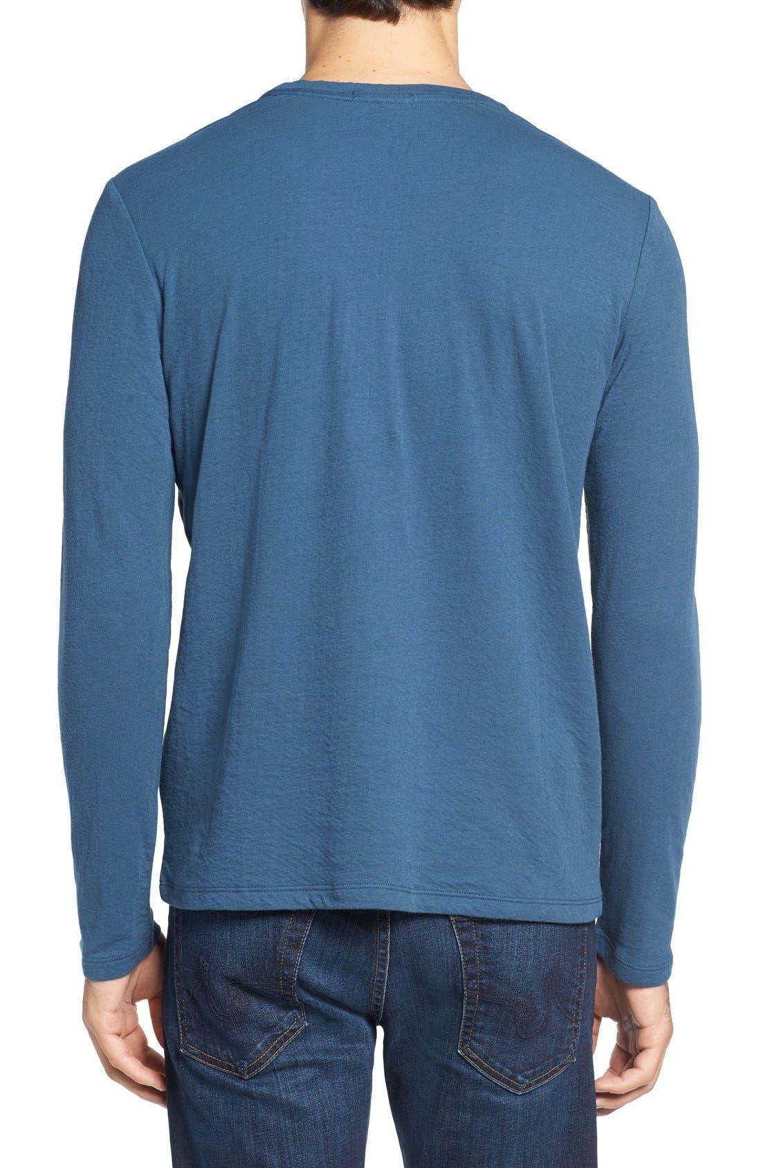 Long Sleeve Crewneck T-Shirt,                             Alternate thumbnail 7, color,