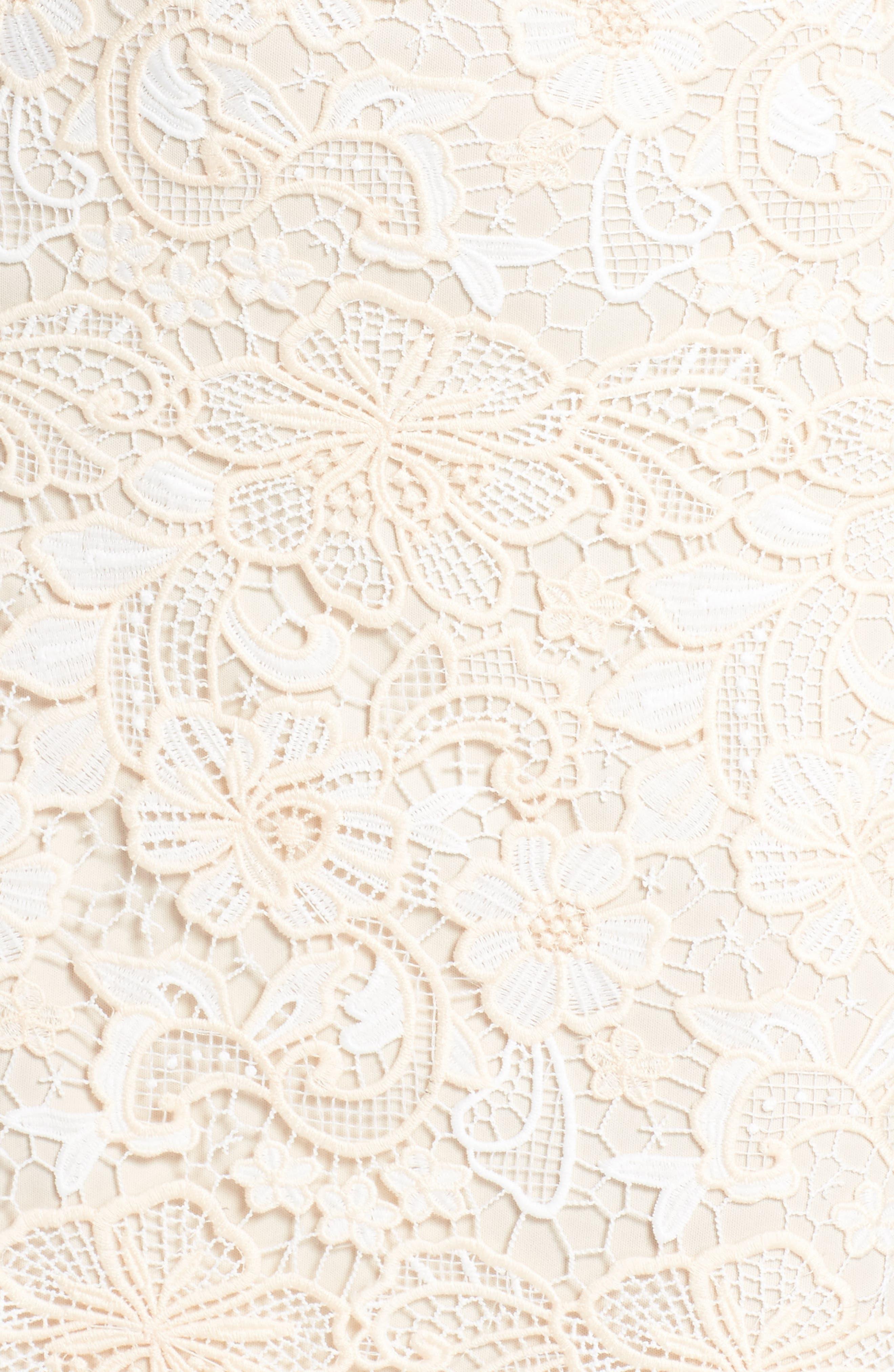 Off the Shoulder Lace Midi Dress,                             Alternate thumbnail 5, color,