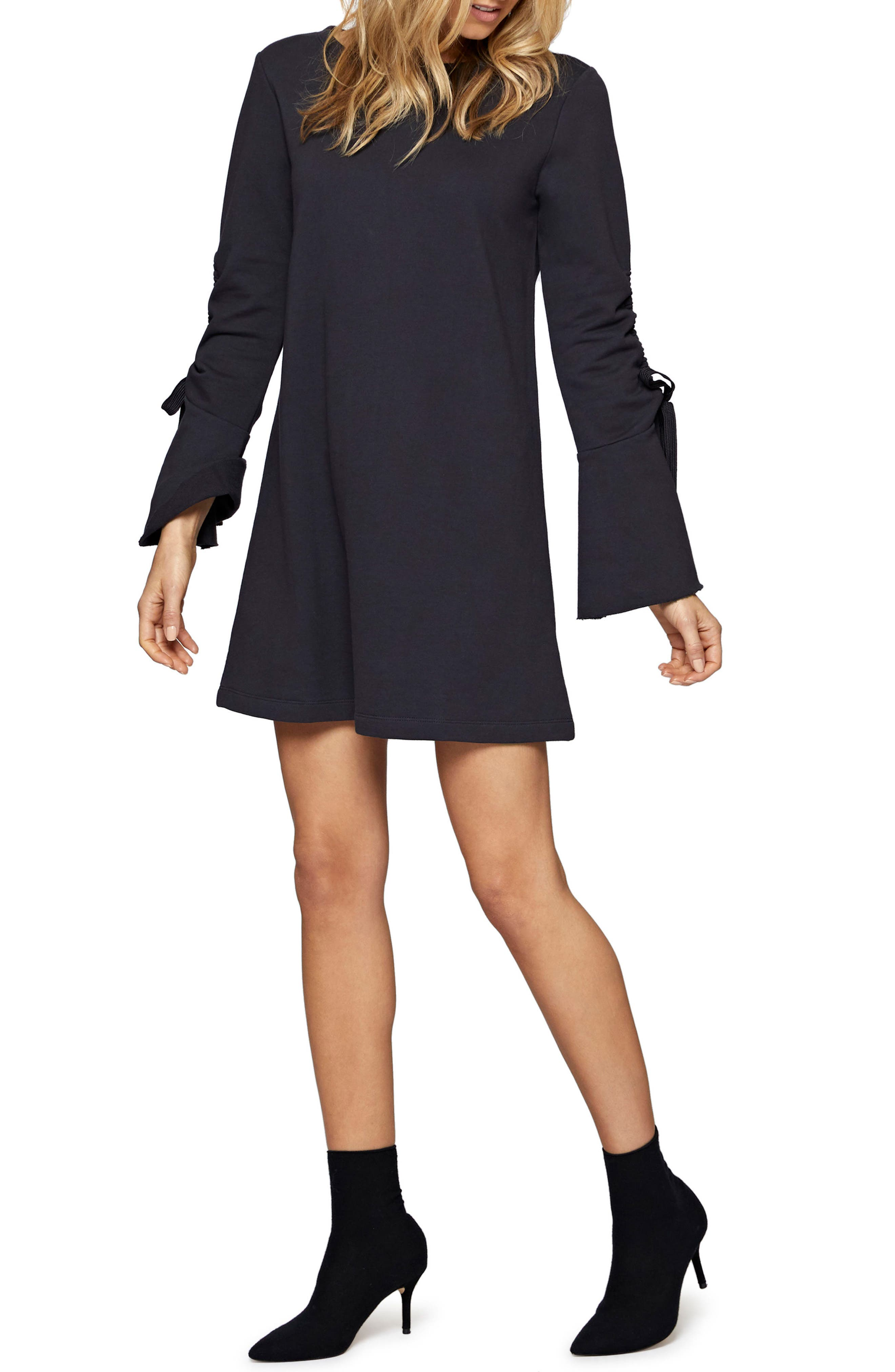 Giovana Tie Sleeve Minidress,                             Alternate thumbnail 3, color,                             410