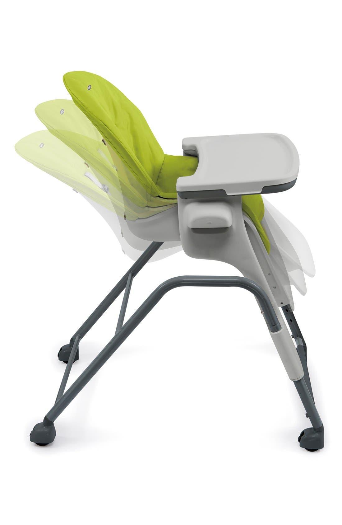 'Seedling' Highchair,                             Alternate thumbnail 4, color,                             GREEN / DARK GRAY