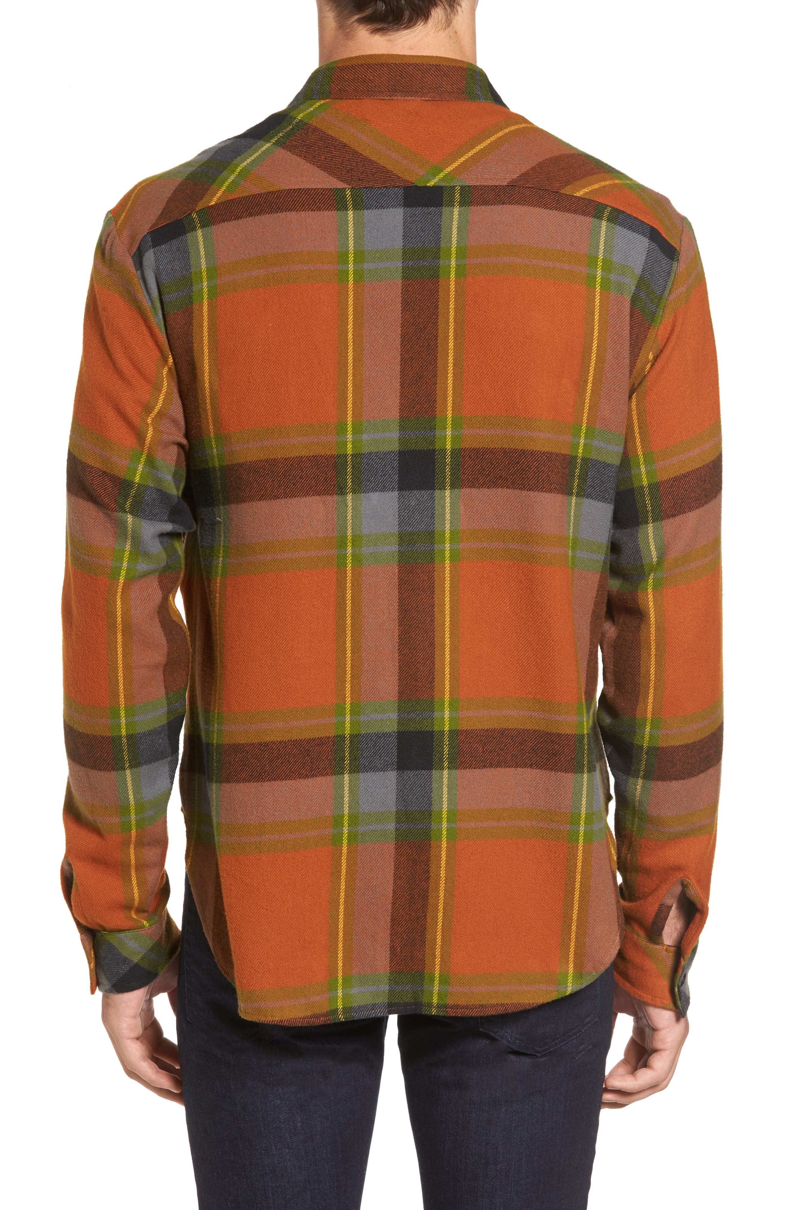 Denim Regular Fit Check Sport Shirt,                             Alternate thumbnail 2, color,                             840