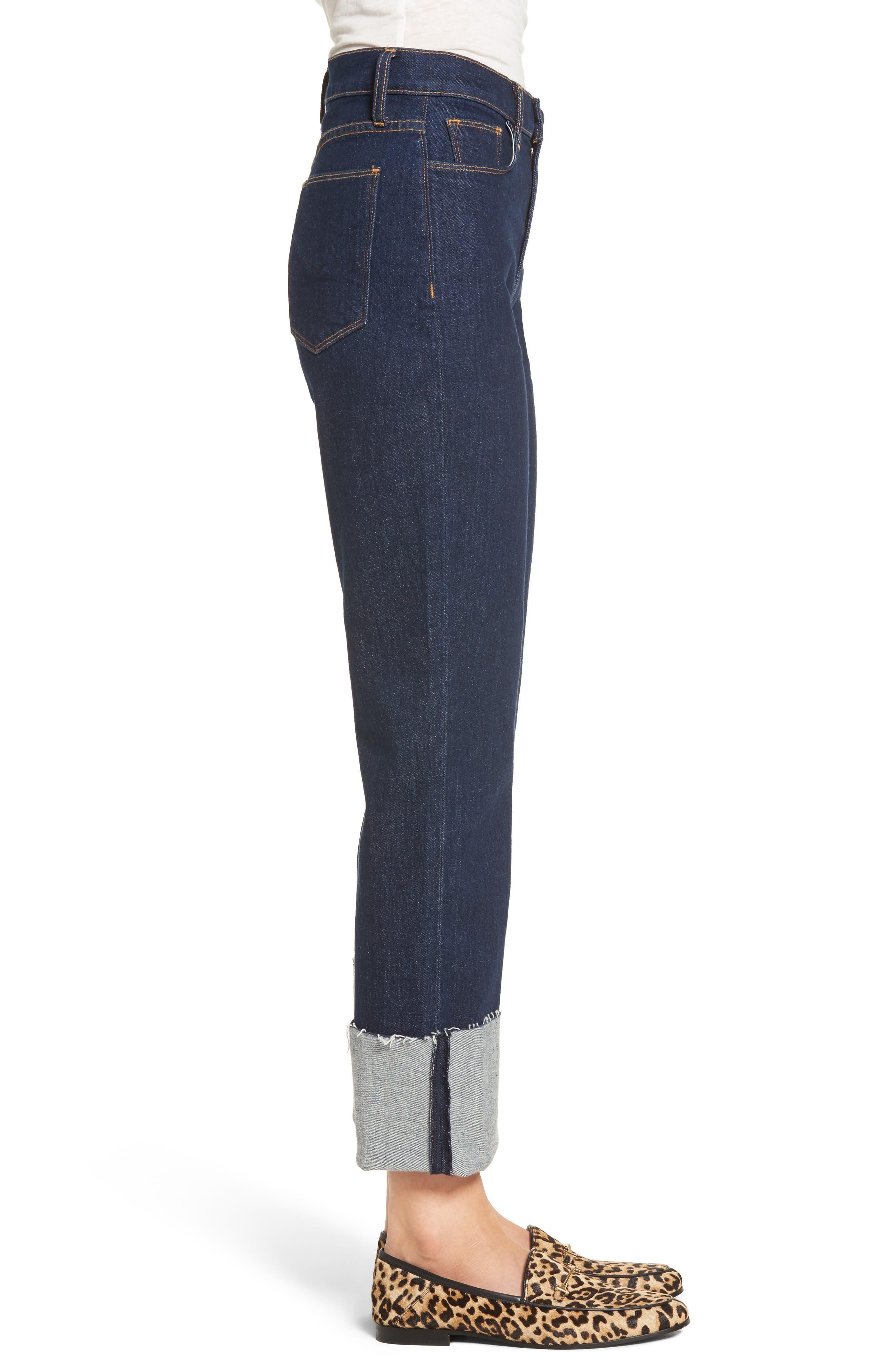 Zoeey High Waist Crop Straight Leg Jeans,                             Alternate thumbnail 8, color,
