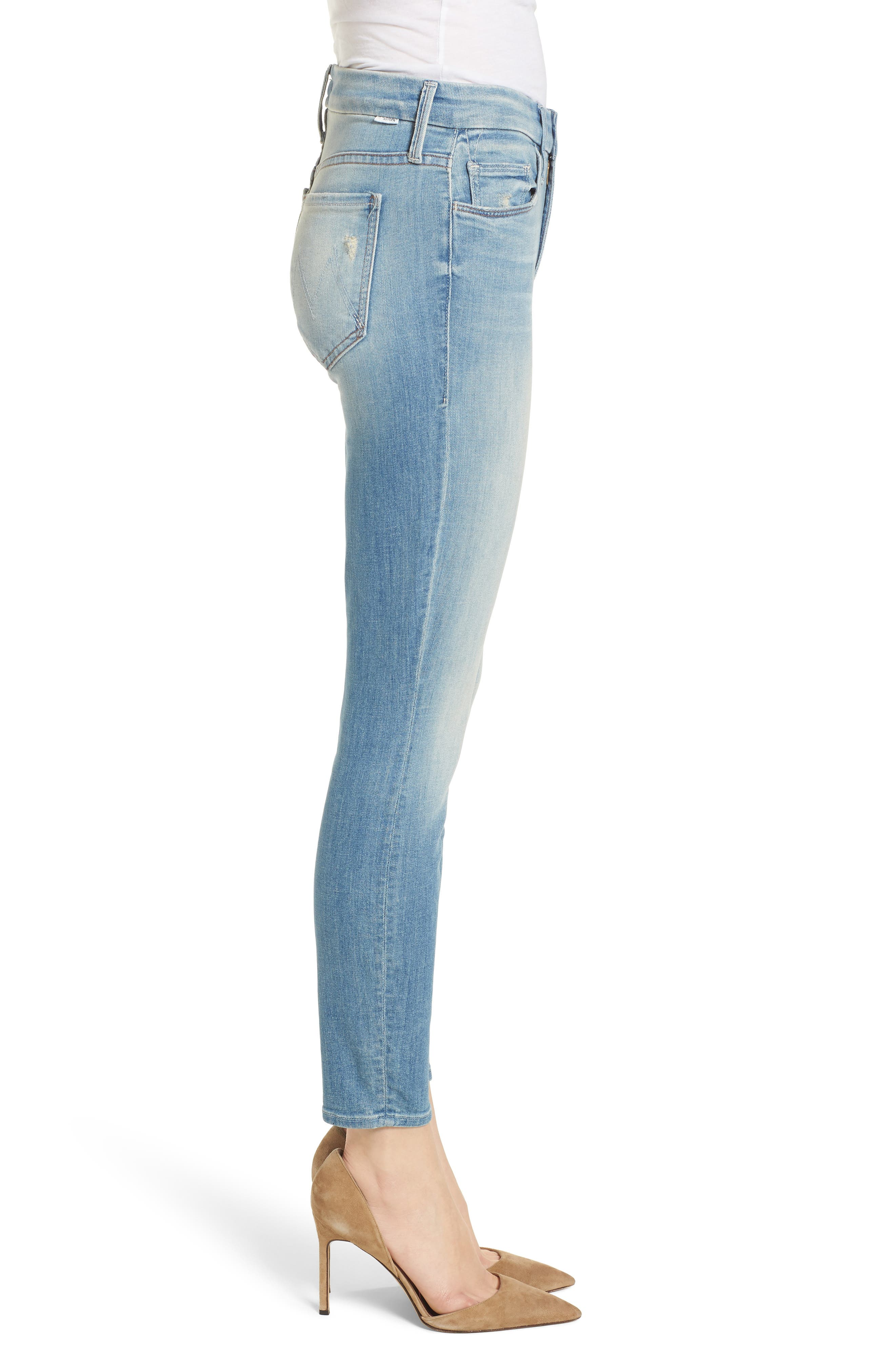 The Looker Crop Skinny Jeans,                             Alternate thumbnail 3, color,                             SHAKE WELL