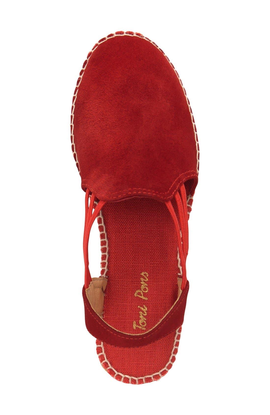 'Nuria' Suede Sandal,                             Alternate thumbnail 3, color,                             600