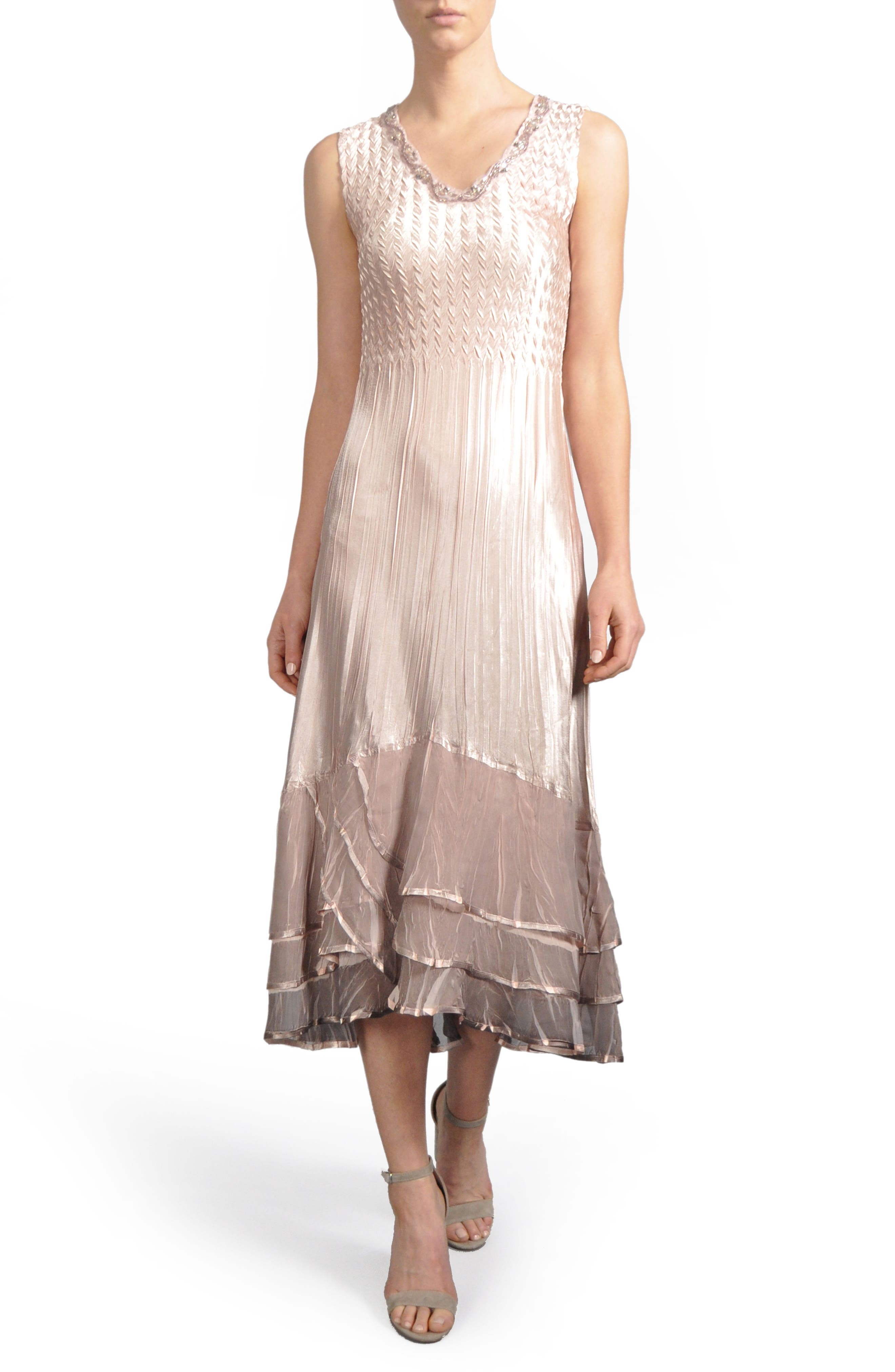 Ruffle Hem Midi Dress with Jacket,                             Alternate thumbnail 3, color,                             233
