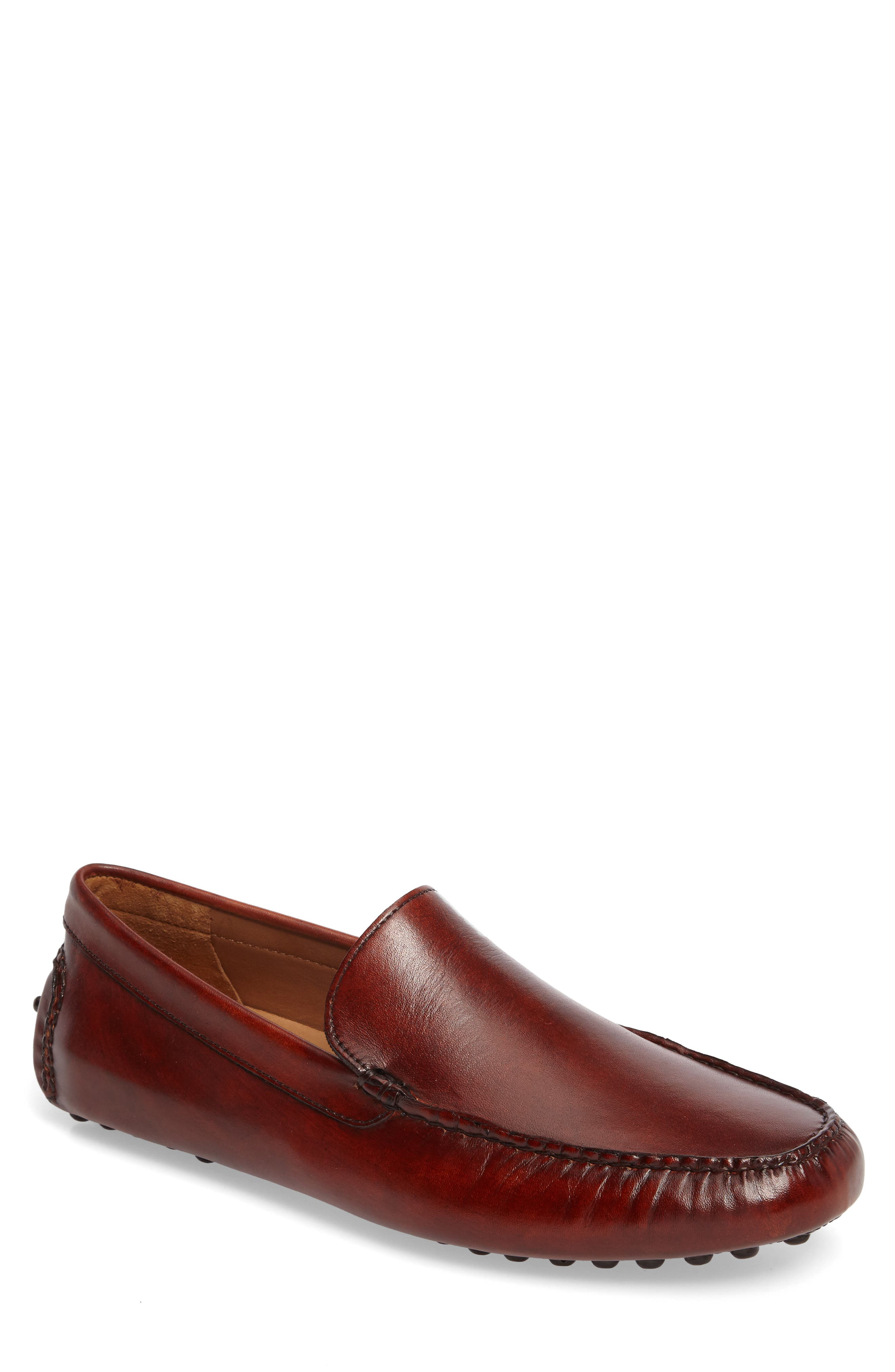 Cane Driving Shoe,                         Main,                         color, TAN LEATHER