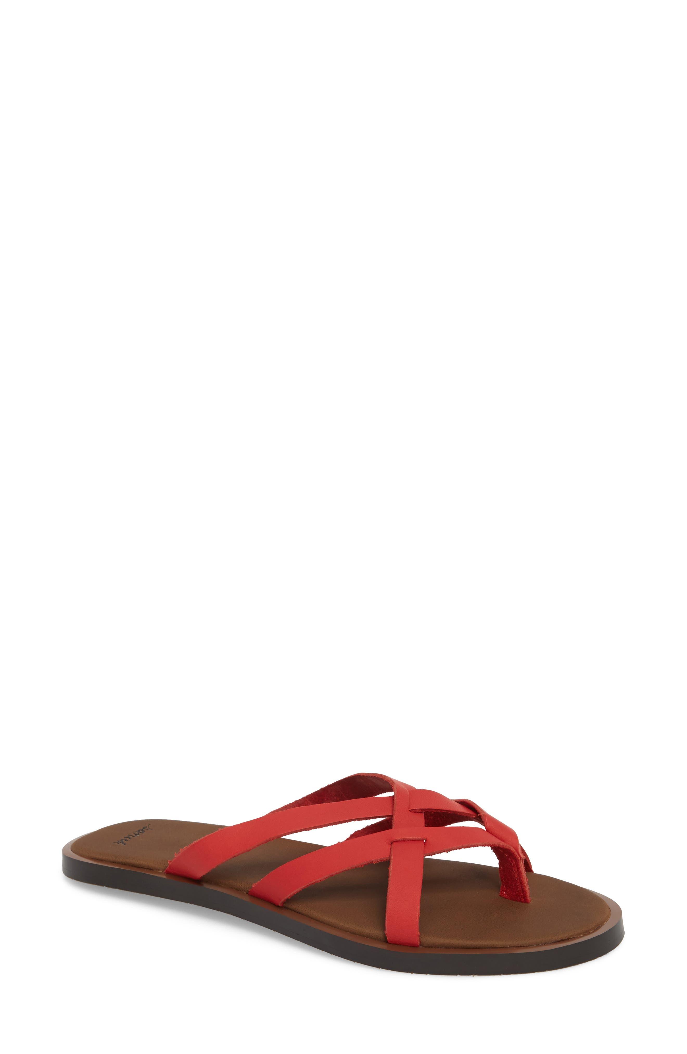 Yoga Strappy Thong Sandal,                             Main thumbnail 3, color,
