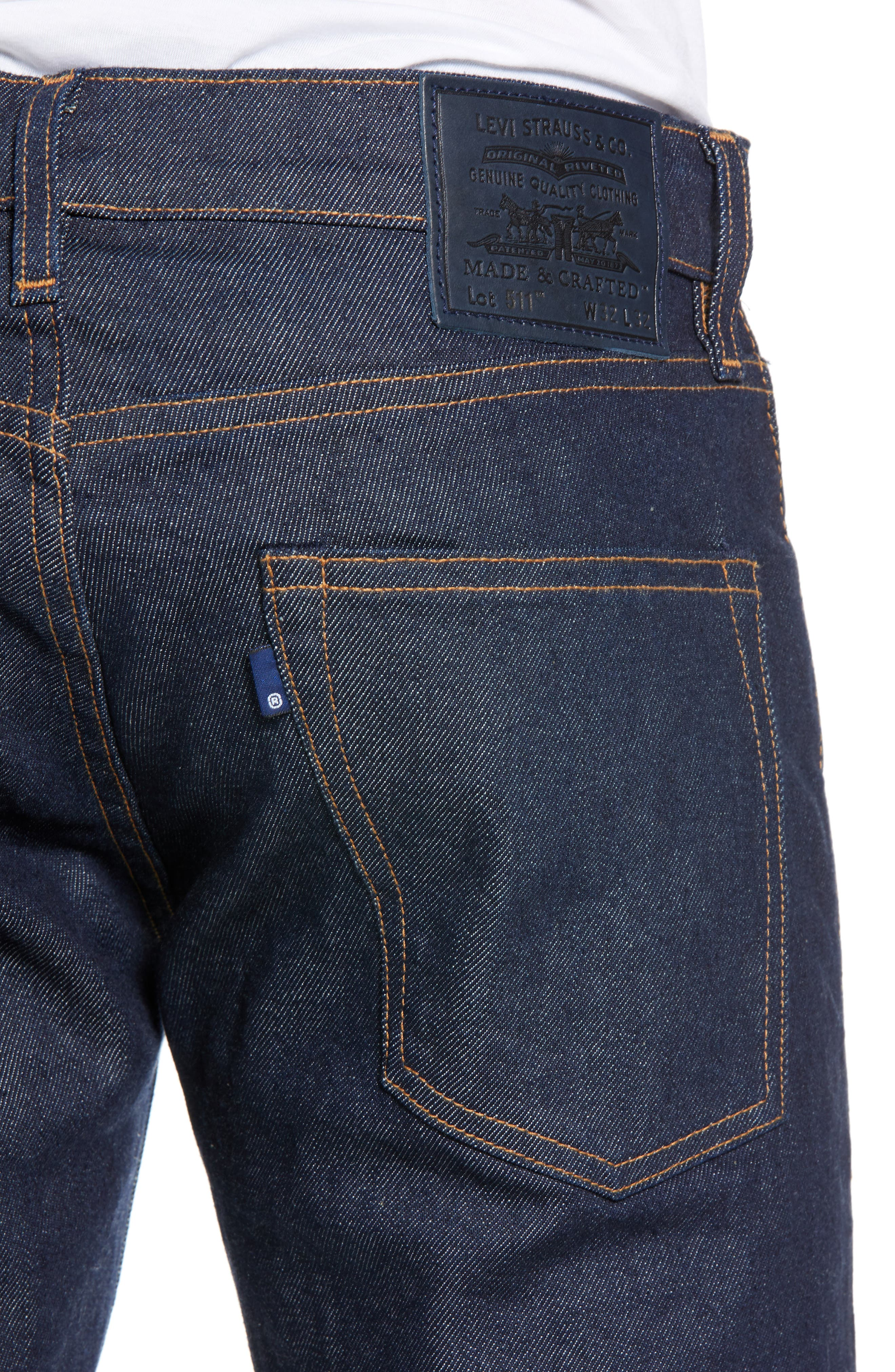 511<sup>™</sup> Slim Fit Jeans,                             Alternate thumbnail 4, color,                             RESIN RINSE