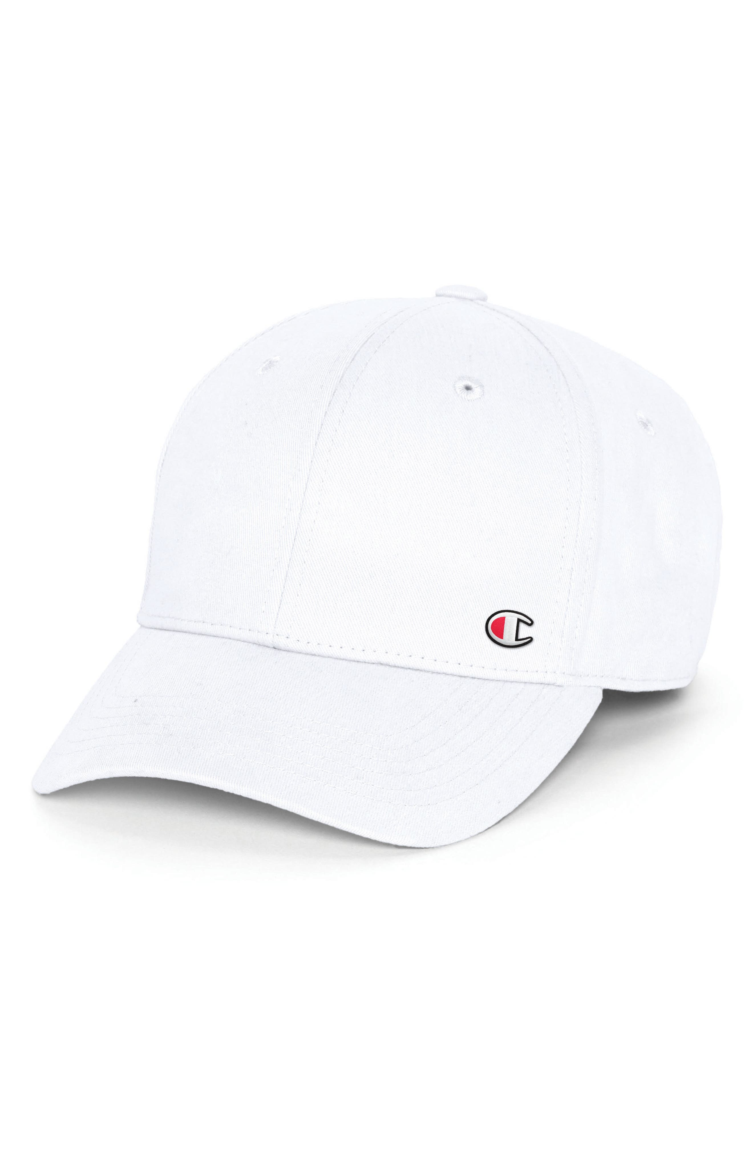 Classic Twill C-Patch Ball Cap,                         Main,                         color, WHITE