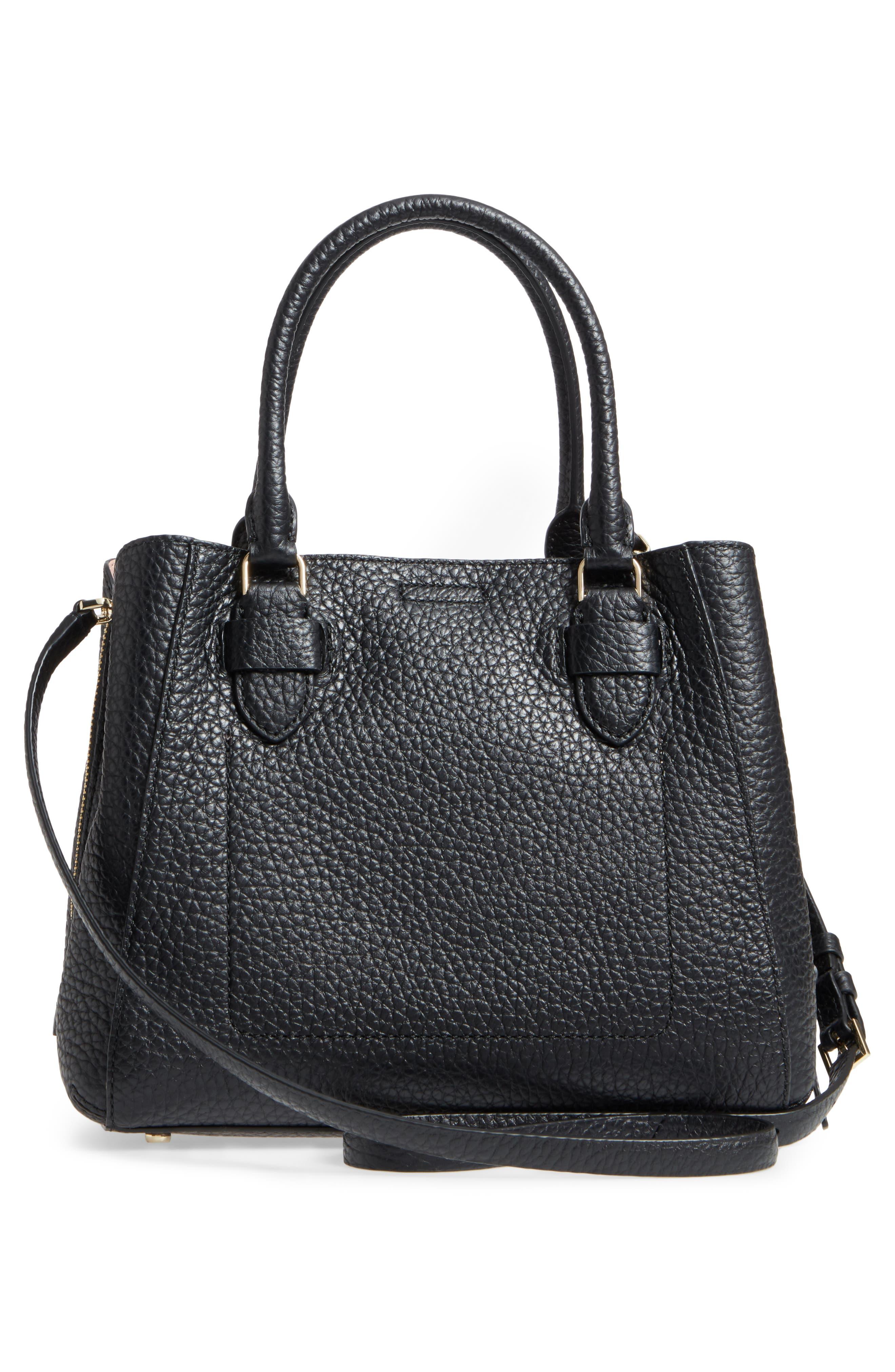 carter street - aliana leather satchel,                             Alternate thumbnail 3, color,                             001