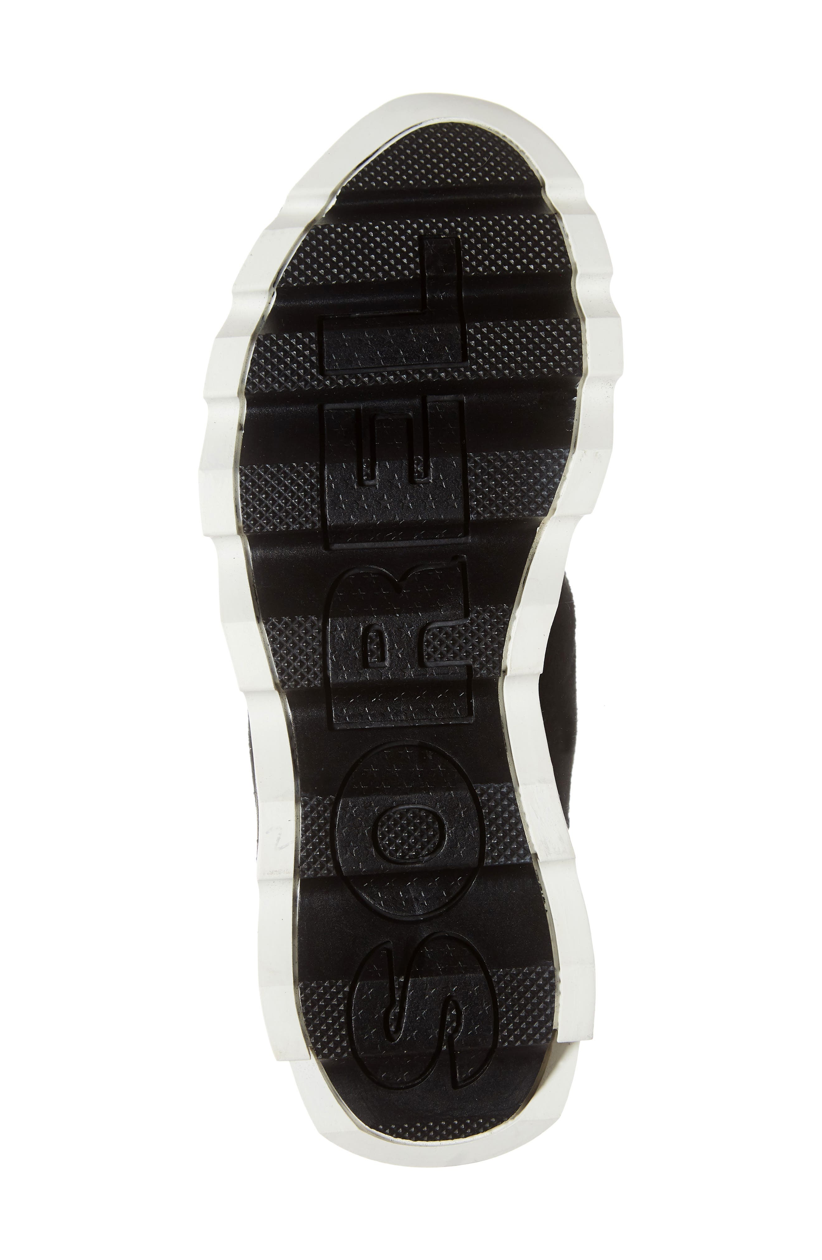 Kinetic Insulated Waterproof Short Boots,                             Alternate thumbnail 6, color,                             BLACK/ SEA SALT