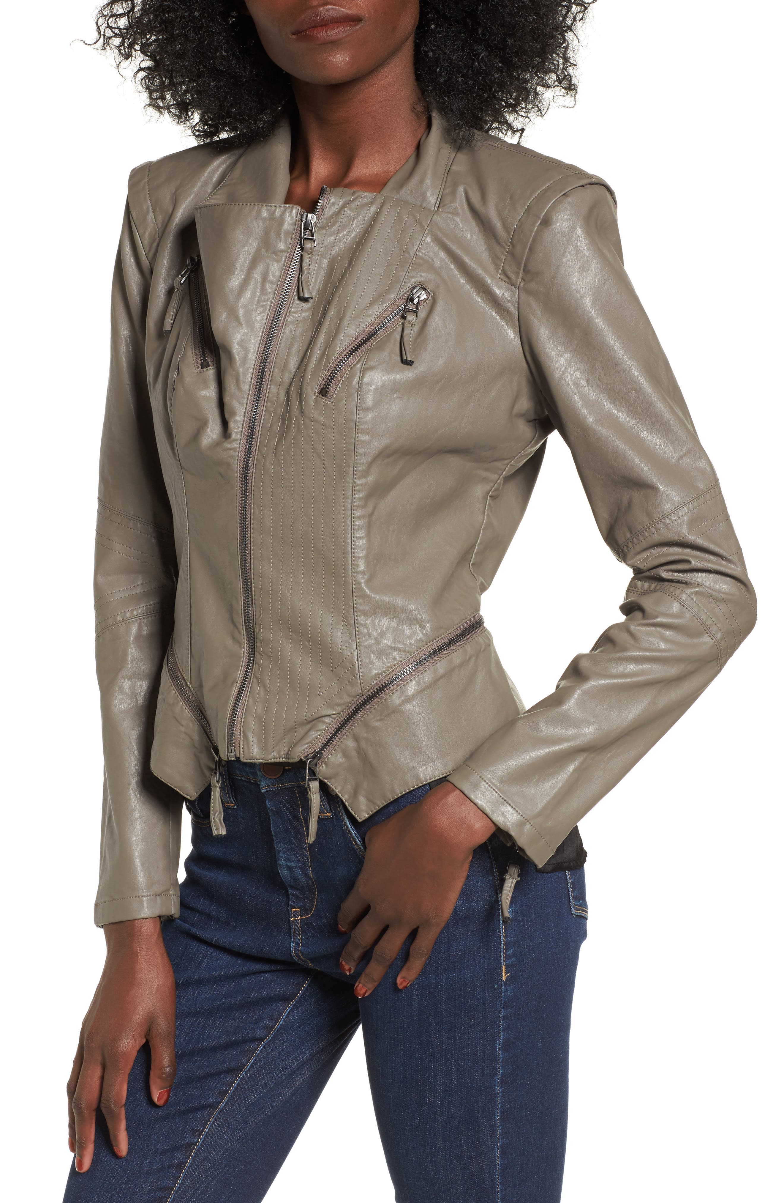 Faux Leather Jacket,                             Alternate thumbnail 40, color,