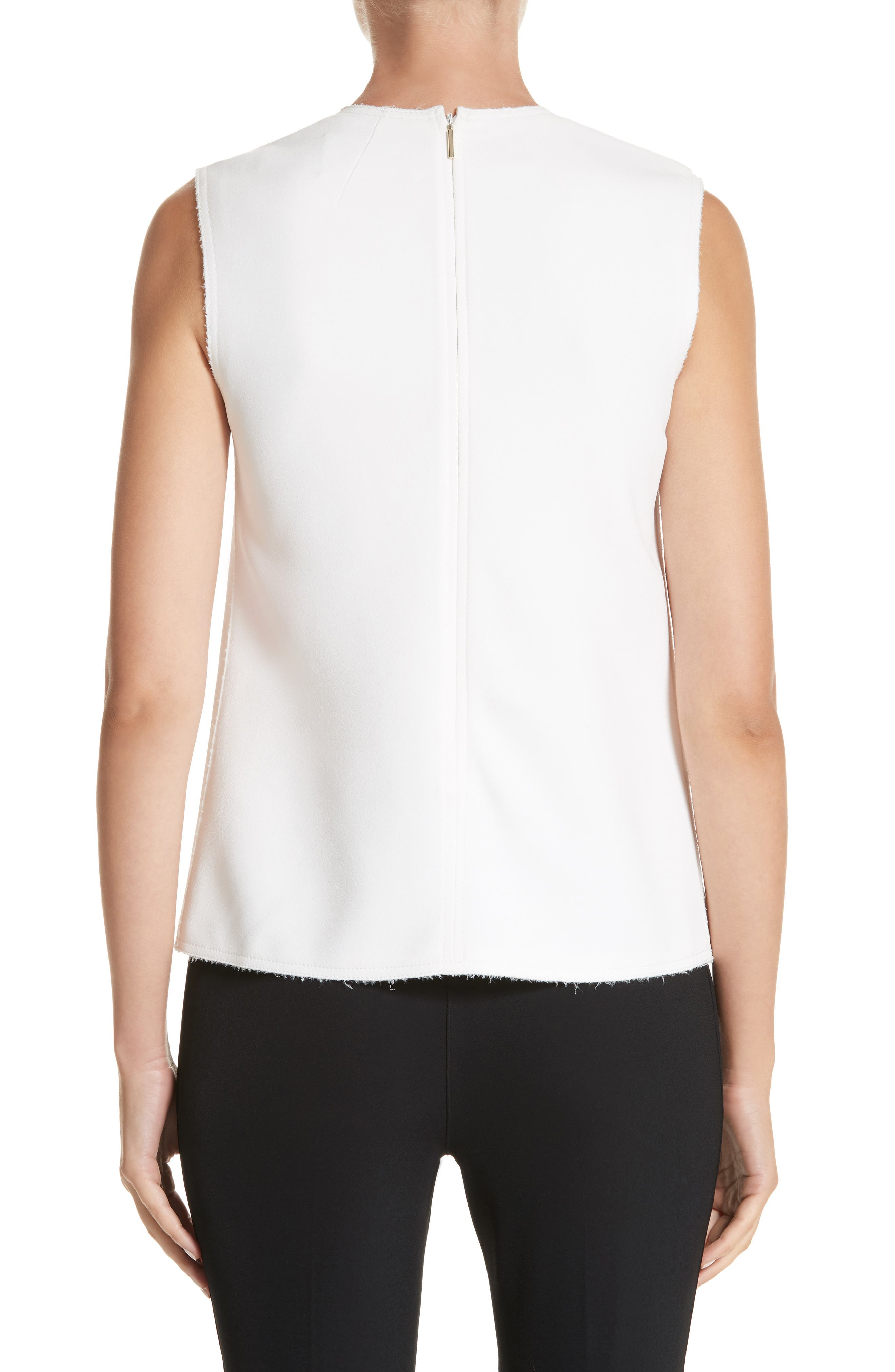 Sleeveless Crepe Top,                             Alternate thumbnail 2, color,