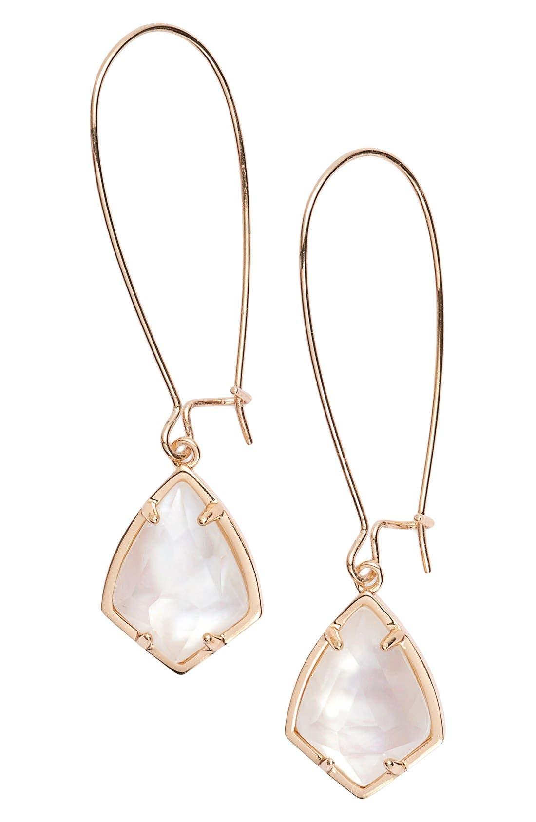 'Carrine' Semiprecious Stone Drop Earrings,                             Main thumbnail 14, color,