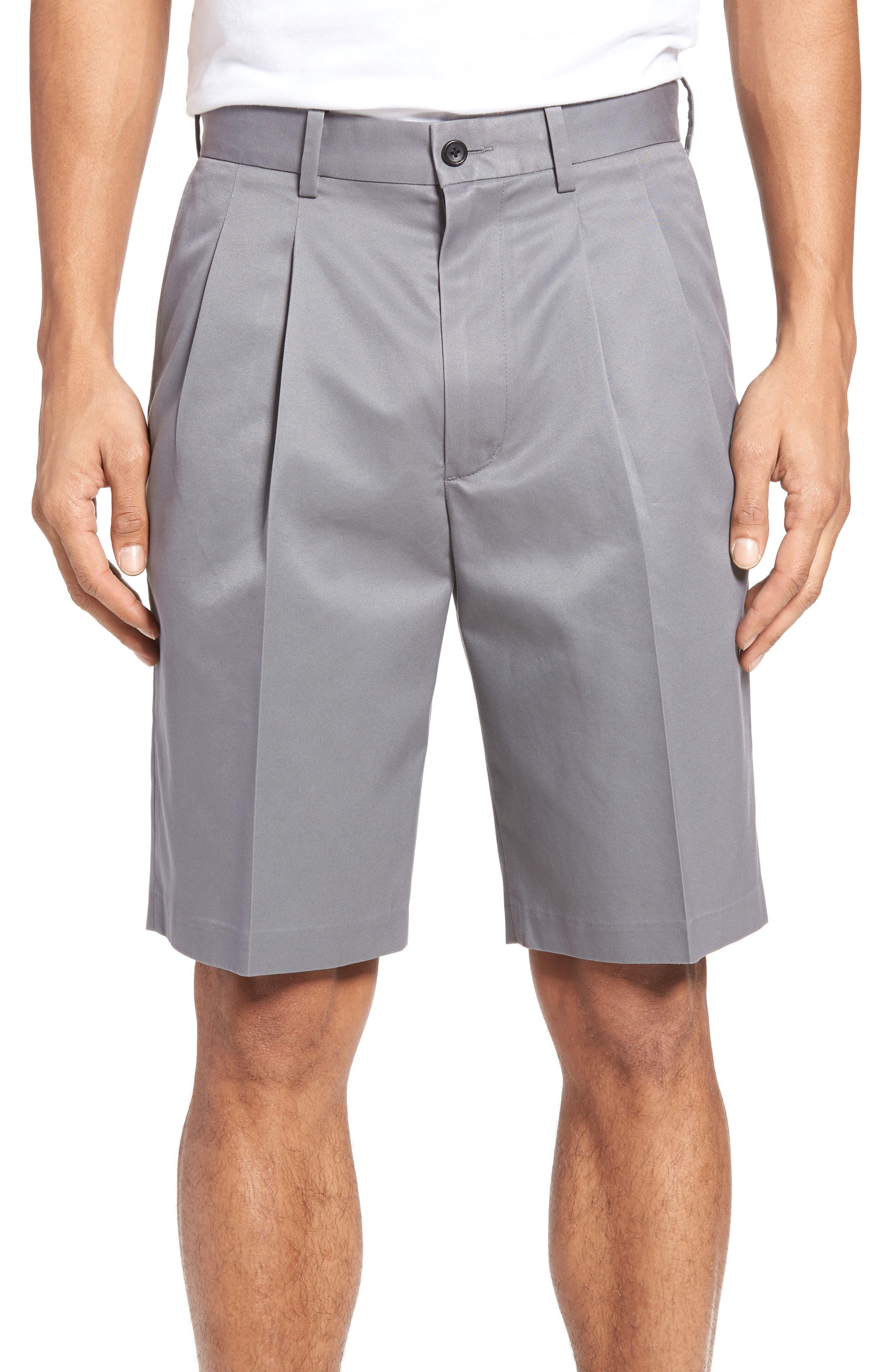 Pleated Supima<sup>®</sup> Cotton Shorts,                             Main thumbnail 2, color,
