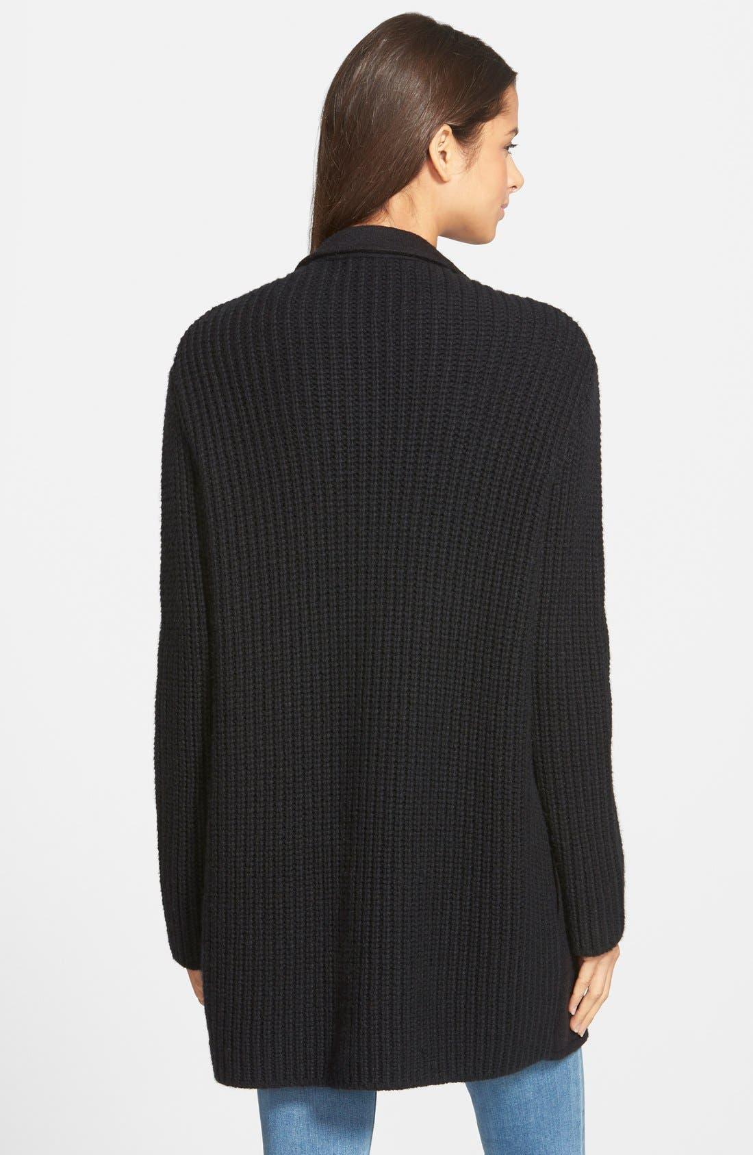 'Charlie' Sweater Coat,                             Alternate thumbnail 3, color,                             001