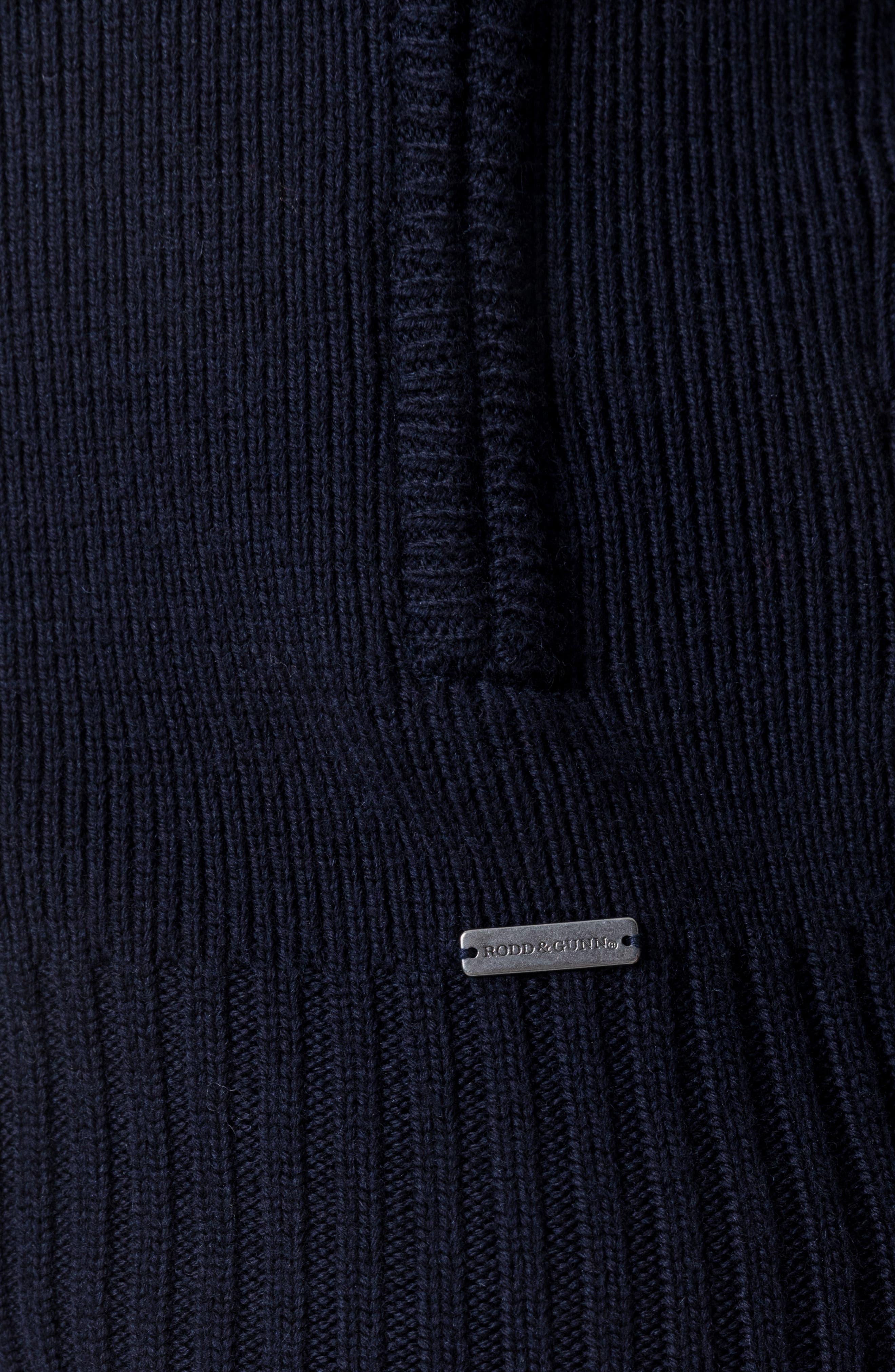 Kina Beach Merino Wool Zip Sweater,                             Alternate thumbnail 4, color,                             400