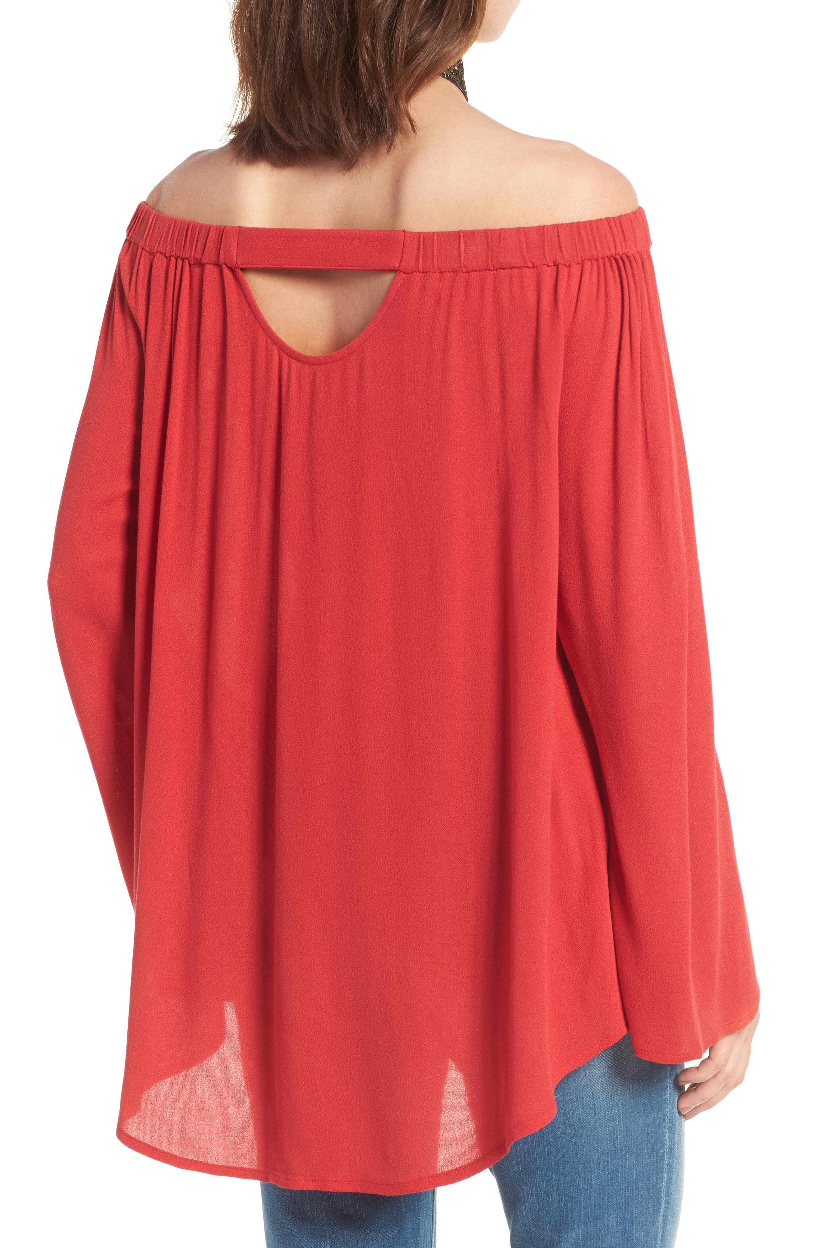 Off the Shoulder Tunic,                             Alternate thumbnail 14, color,
