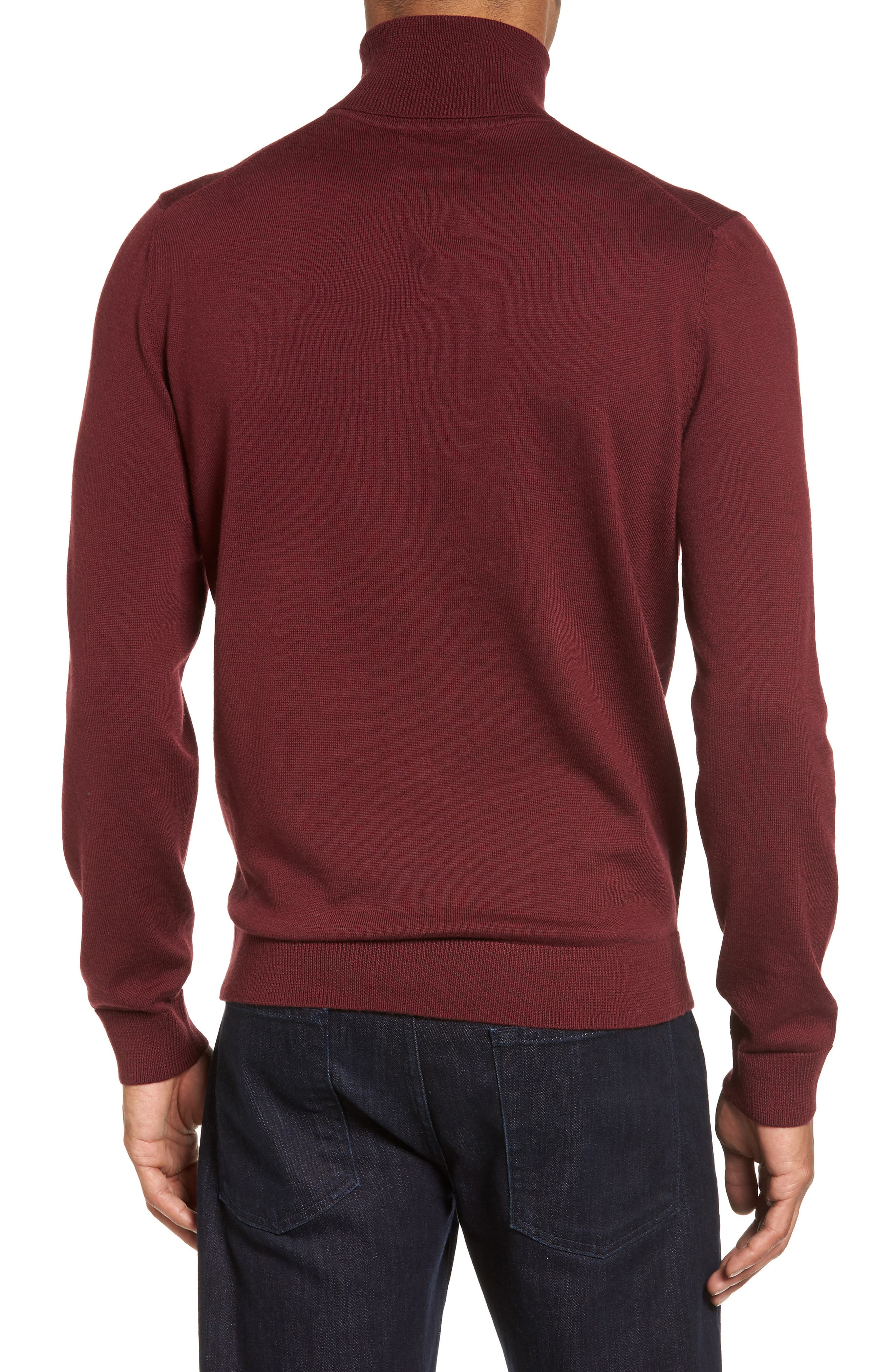 Merino Wool Turtleneck Sweater,                             Alternate thumbnail 12, color,