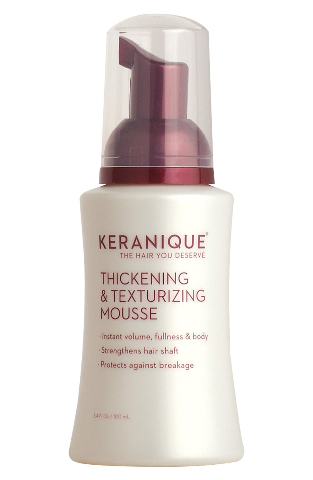 KERANIQUE Thickening & Texturizing Mousse, Main, color, 000