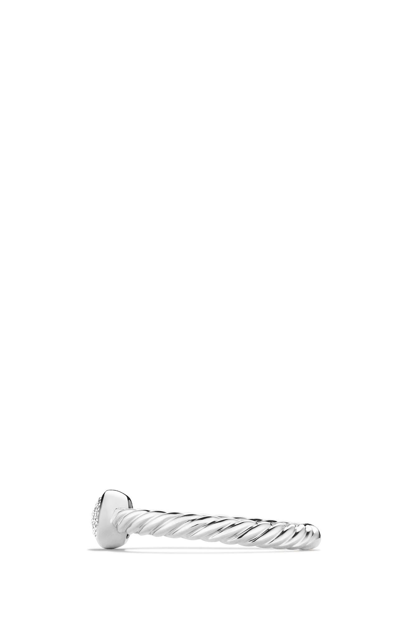 Petite Pavé Oval Ring with Diamonds,                             Alternate thumbnail 2, color,                             100