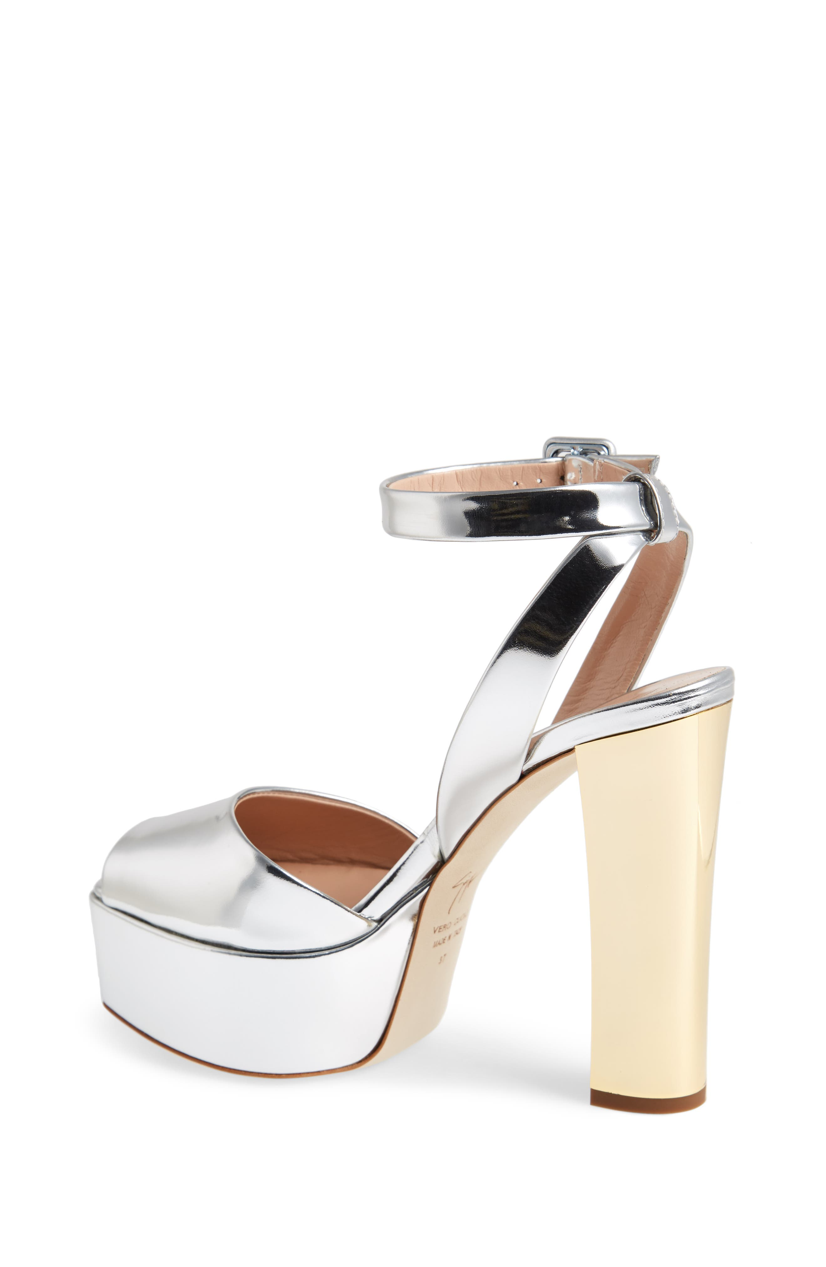 Lavinia Platform Sandal,                             Alternate thumbnail 2, color,                             SILVER
