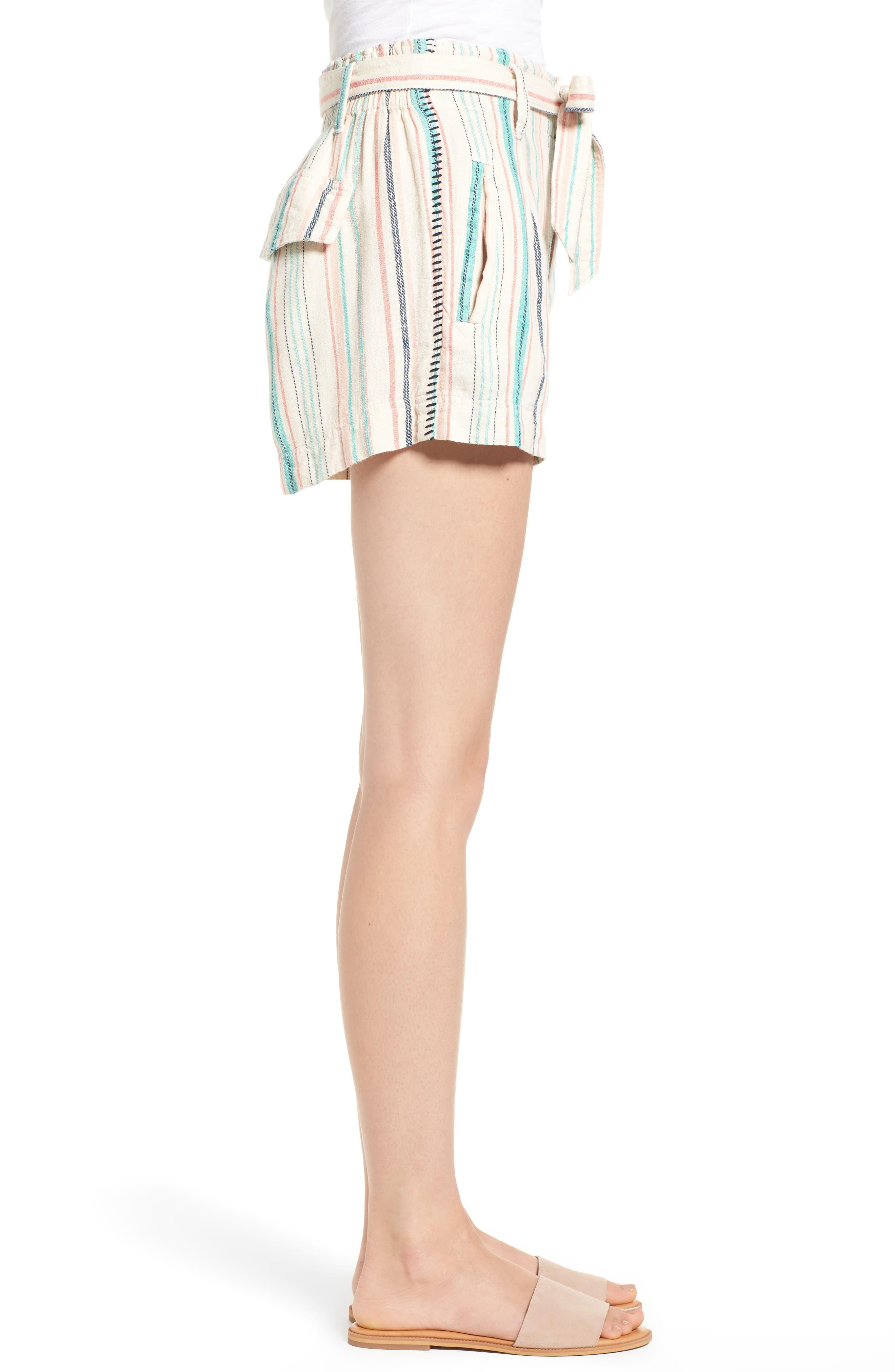 La Paz Stripe Twill Shorts,                             Alternate thumbnail 3, color,                             MULTI