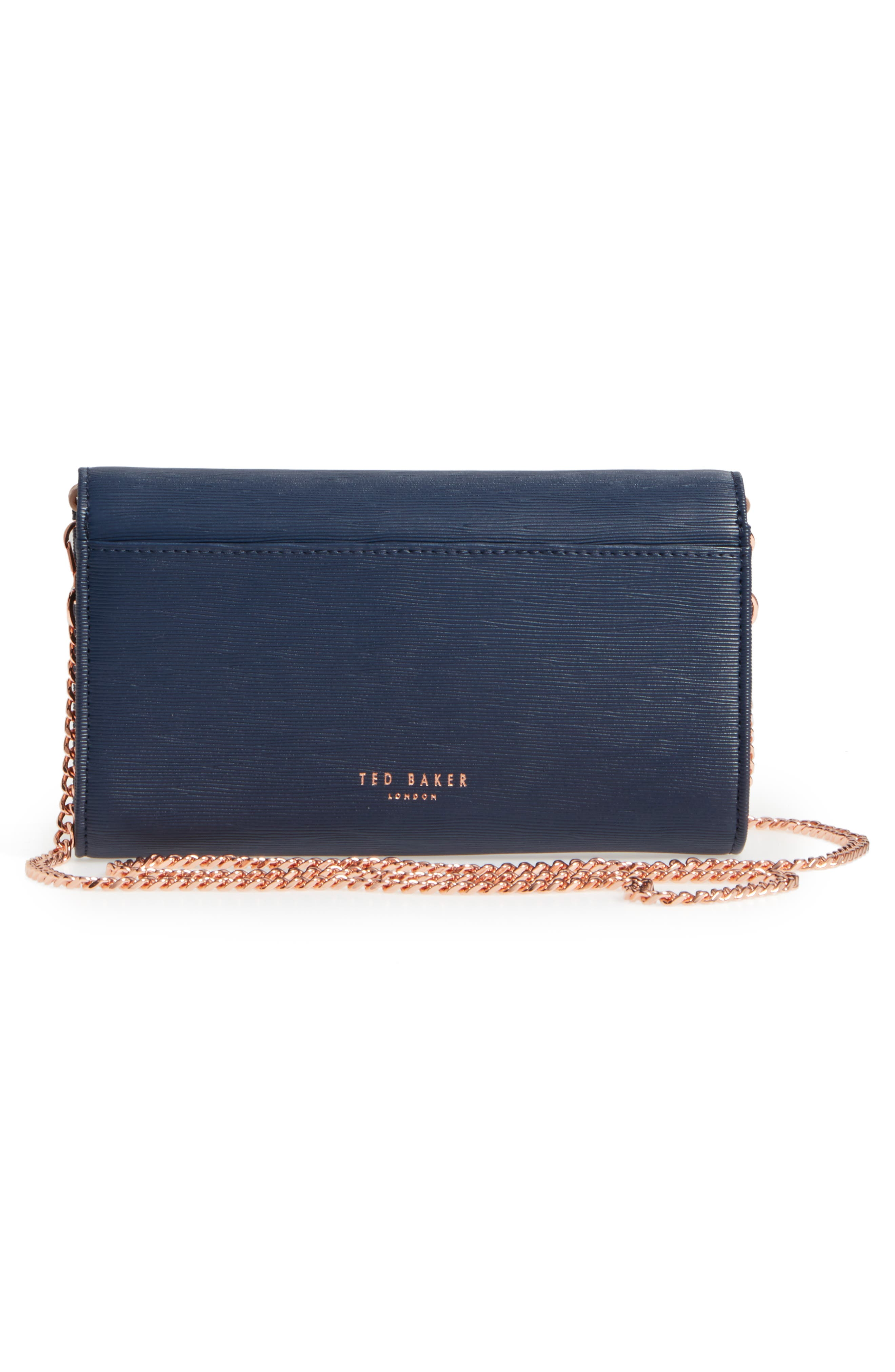 Melisia Bow Matinée Wallet on a Chain,                             Alternate thumbnail 8, color,