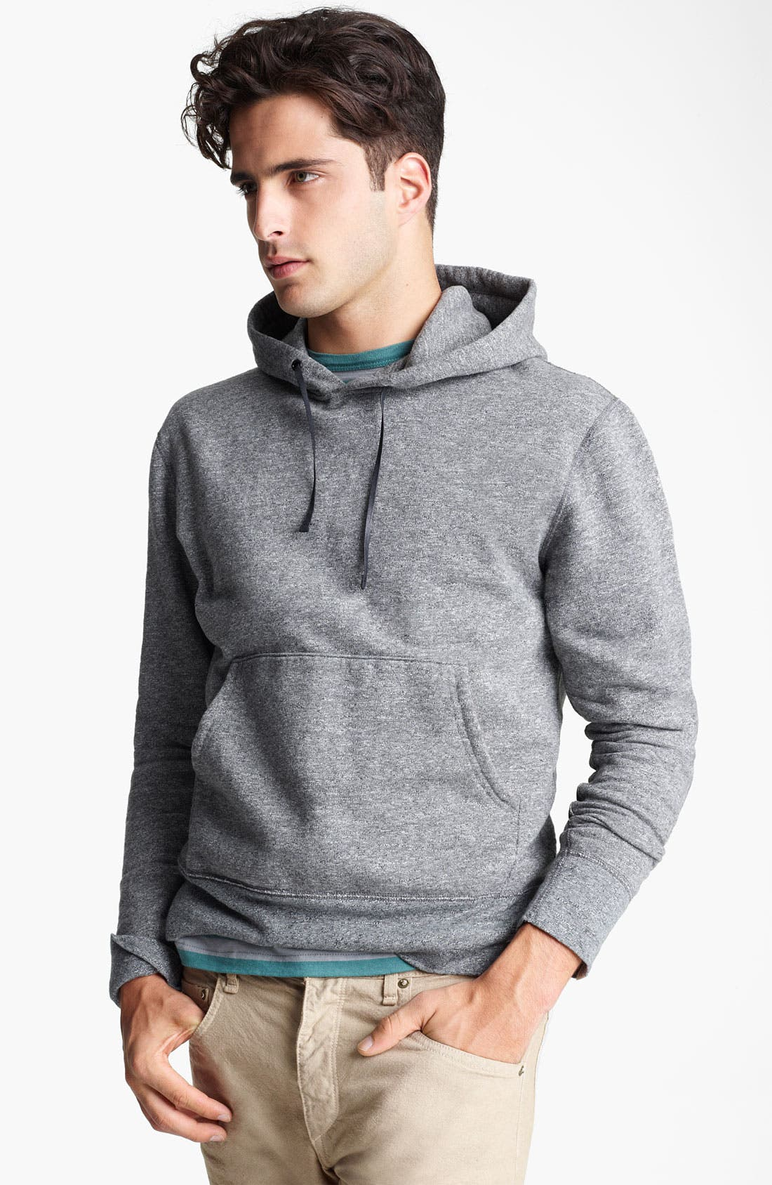Elbow Patch Hoodie, Main, color, 020