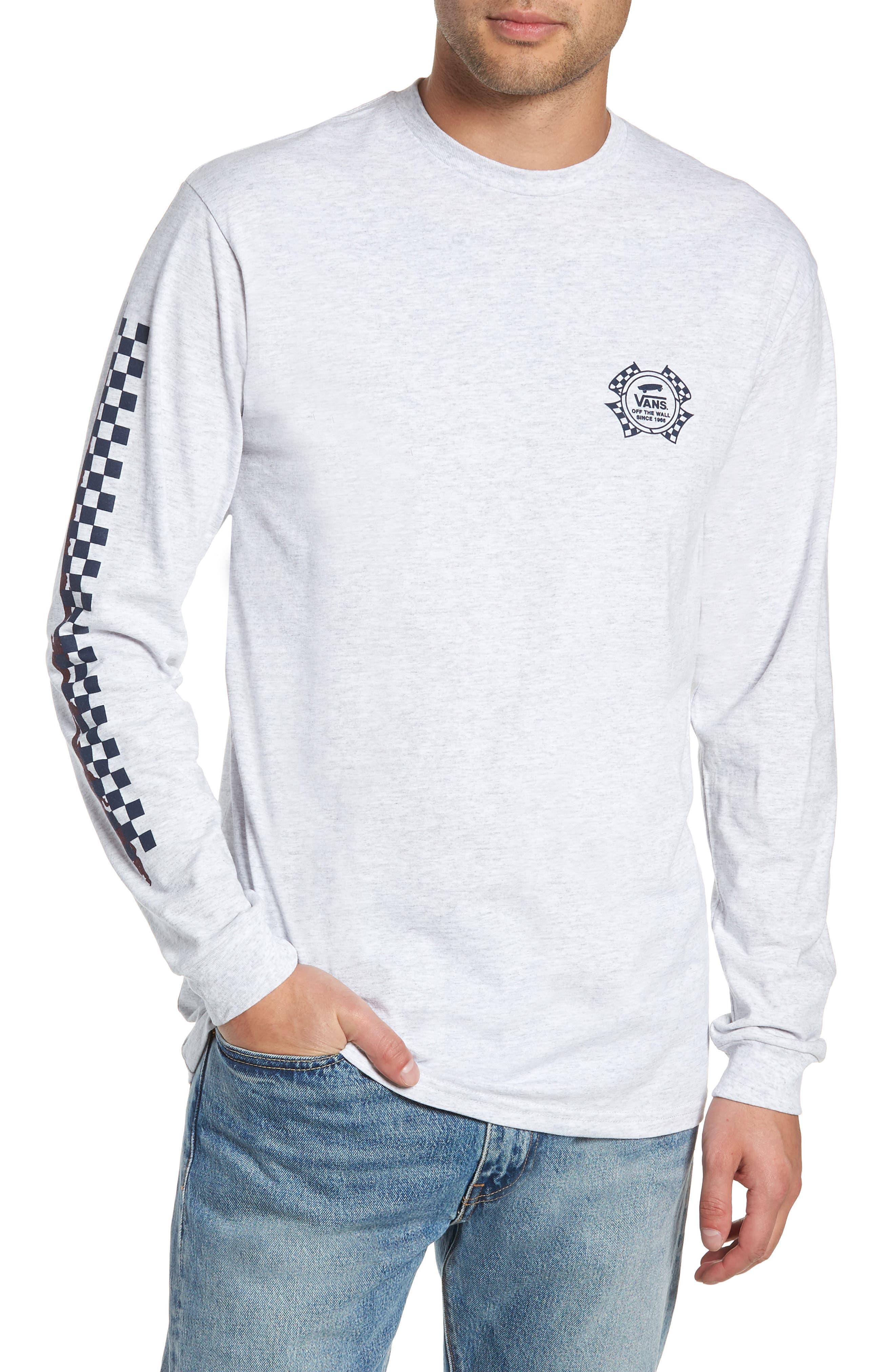 Check It Long Sleeve T-Shirt,                         Main,                         color, ASH HEATHER