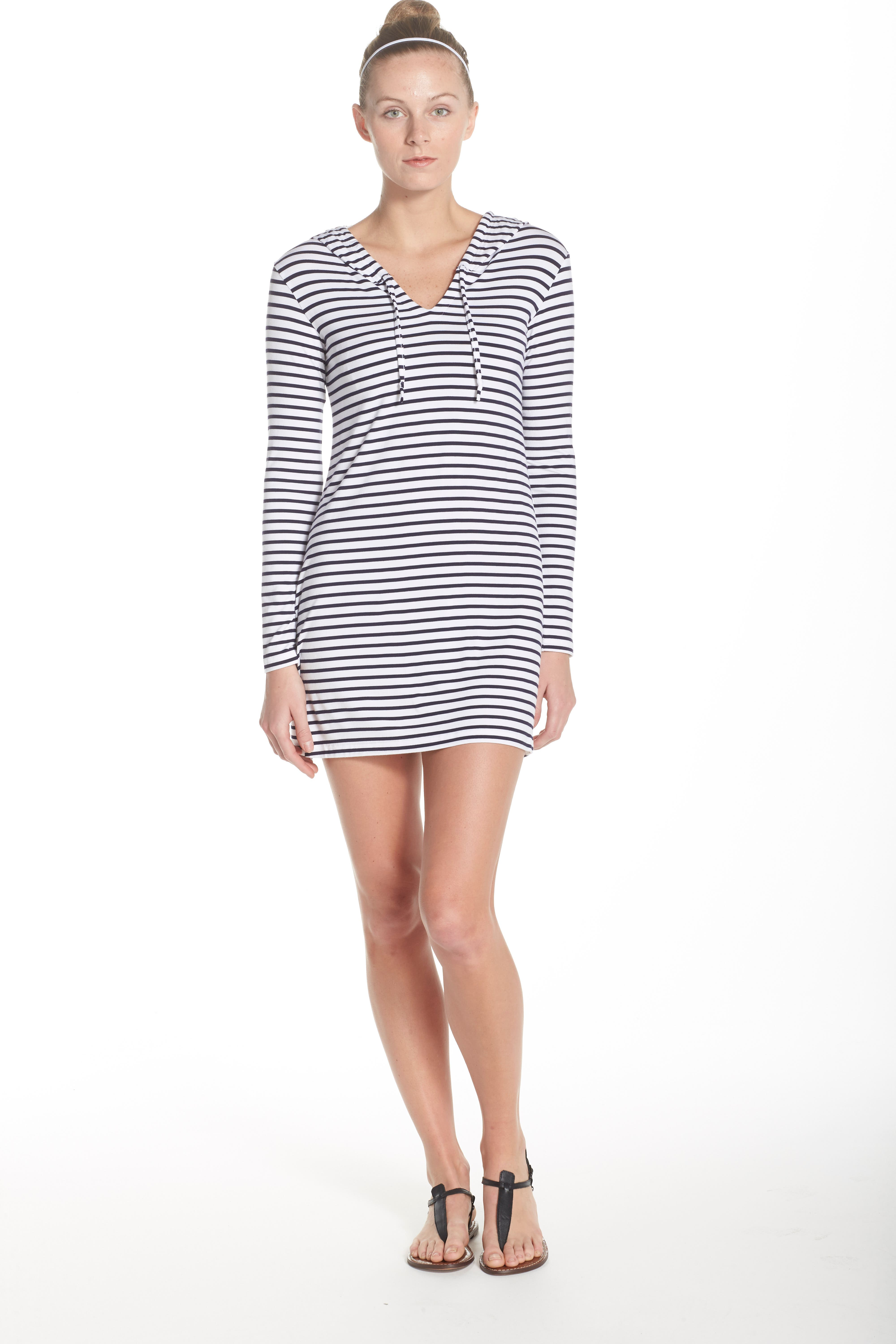 Print Hooded UPF 50 Cover-Up,                             Alternate thumbnail 6, color,                             100