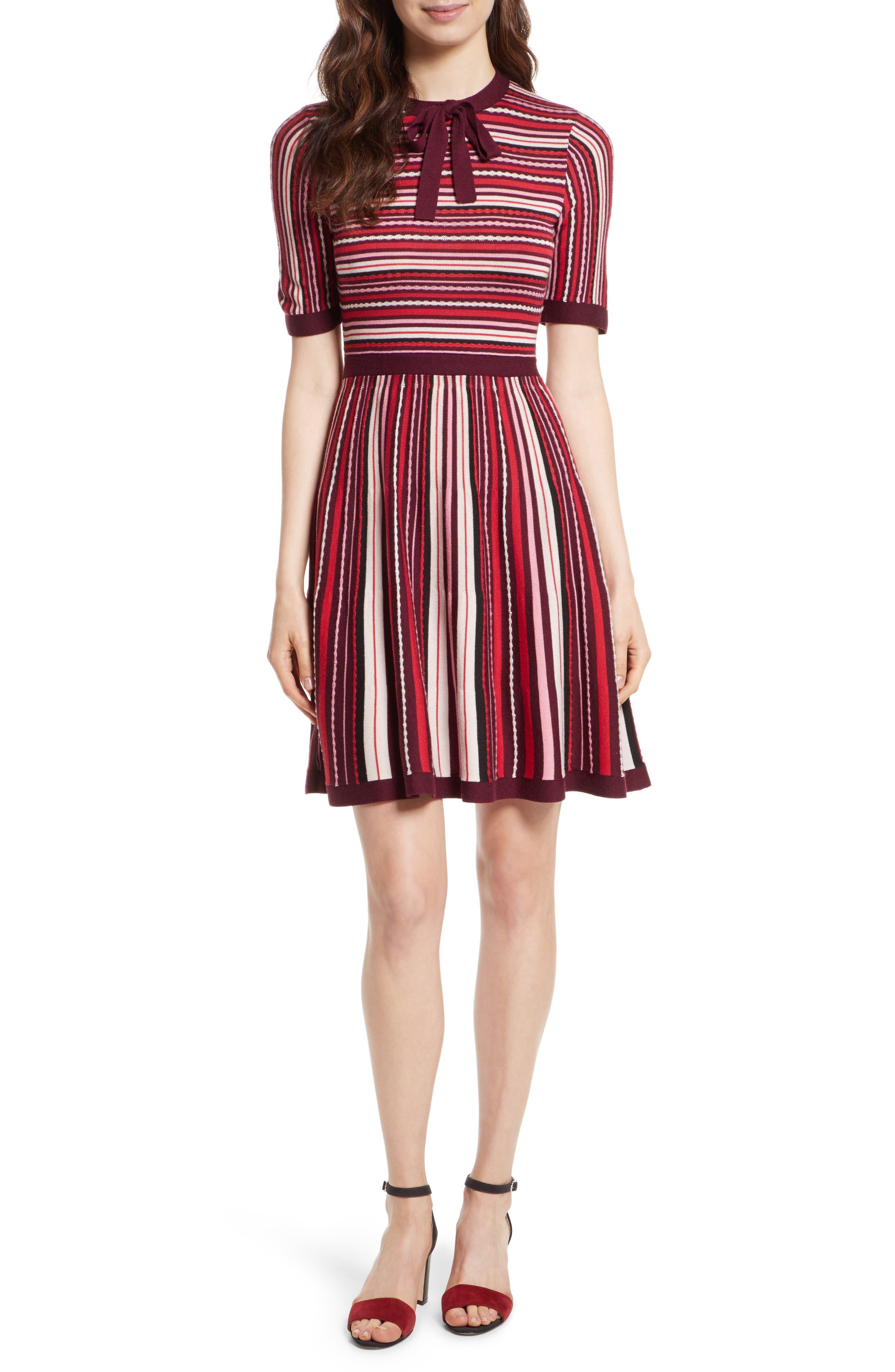 stripe sweater dress,                             Alternate thumbnail 5, color,                             677
