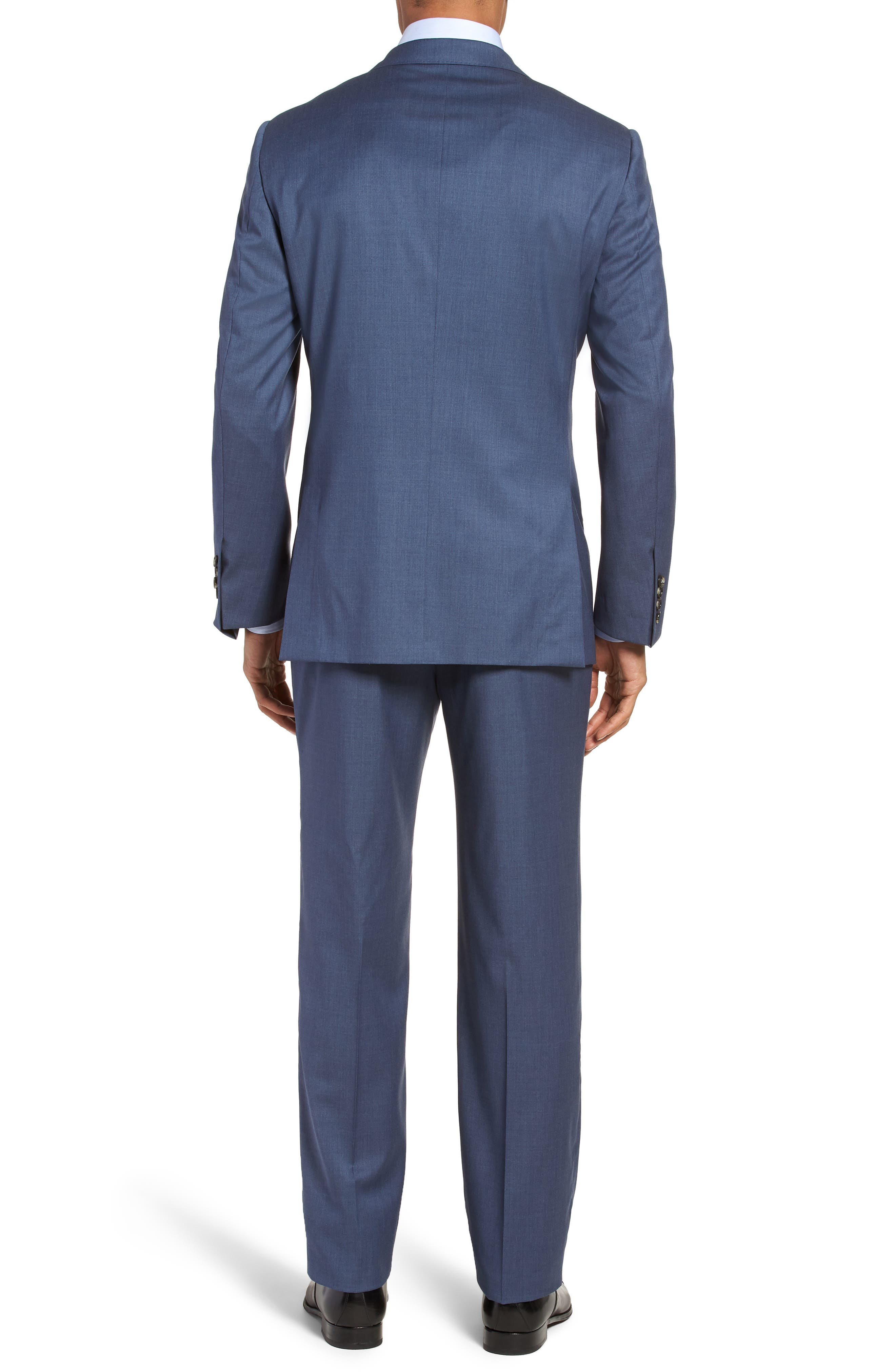 Classic B Fit Solid Wool Suit,                             Alternate thumbnail 2, color,                             499