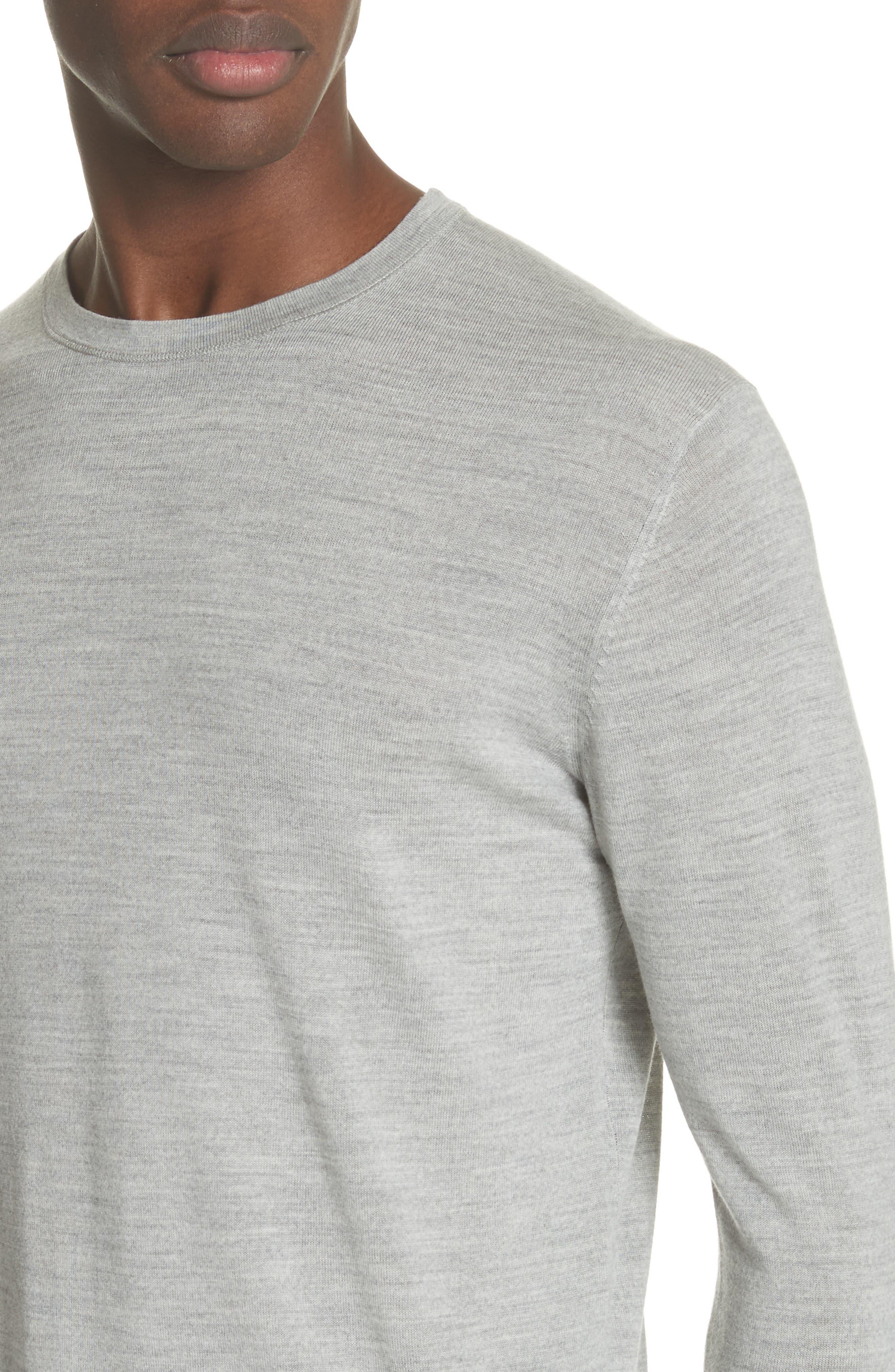 Nino Crewneck Wool Sweater,                             Alternate thumbnail 4, color,                             020