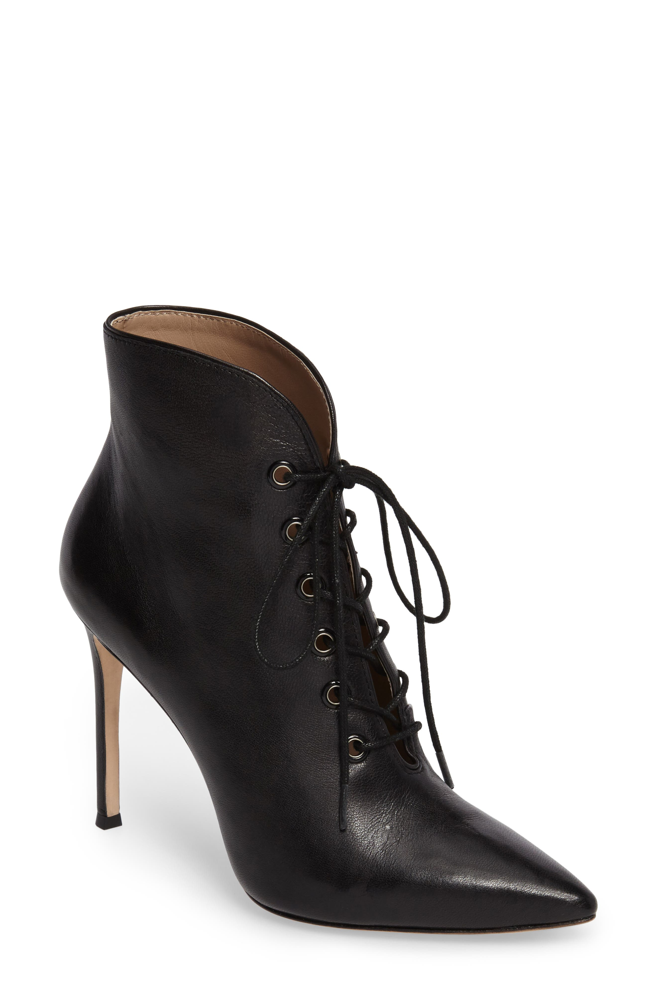 Cari Pointy Toe Bootie,                             Main thumbnail 1, color,                             001