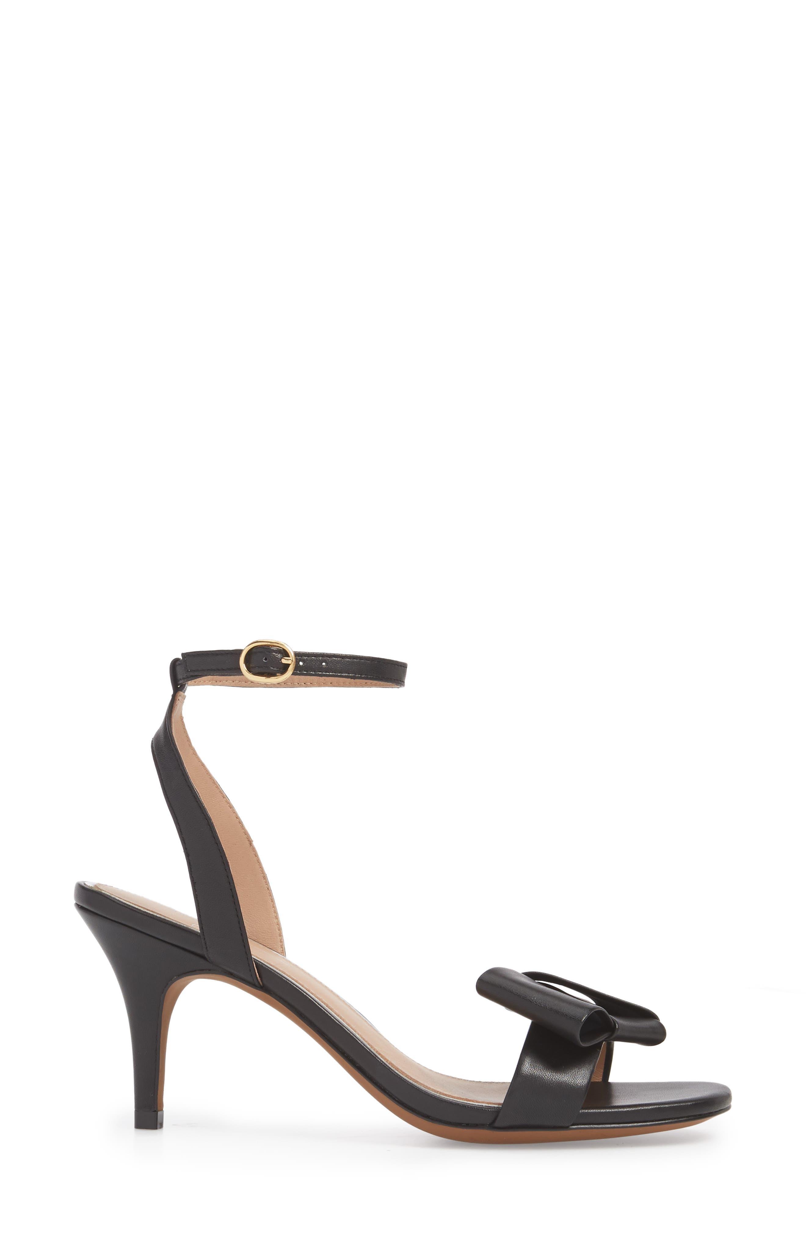 Haven Ankle Strap Sandal,                             Alternate thumbnail 3, color,                             BLACK LEATHER