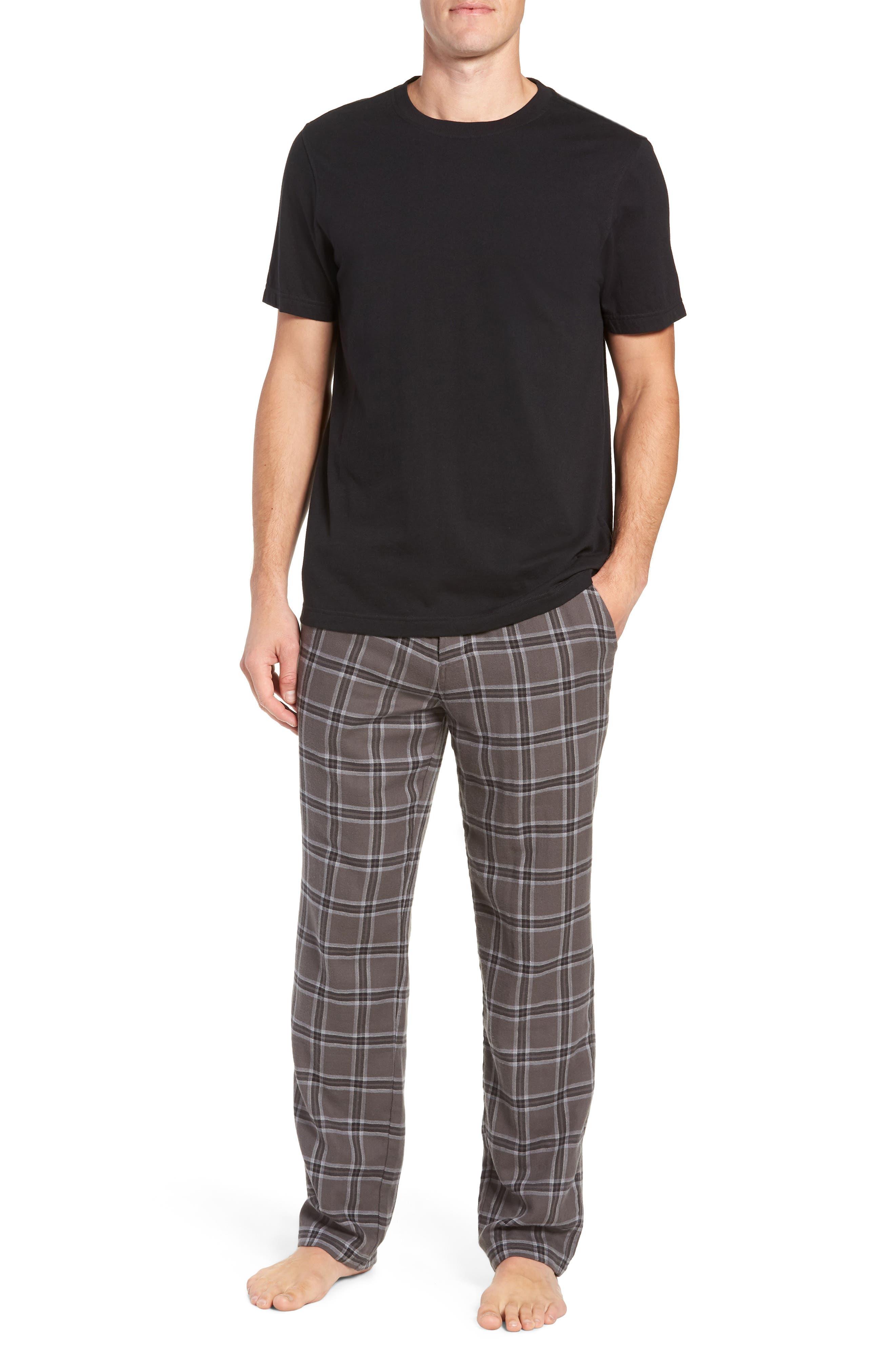 Grant Pajama Set,                             Main thumbnail 1, color,                             CHARCOAL/ BLACK