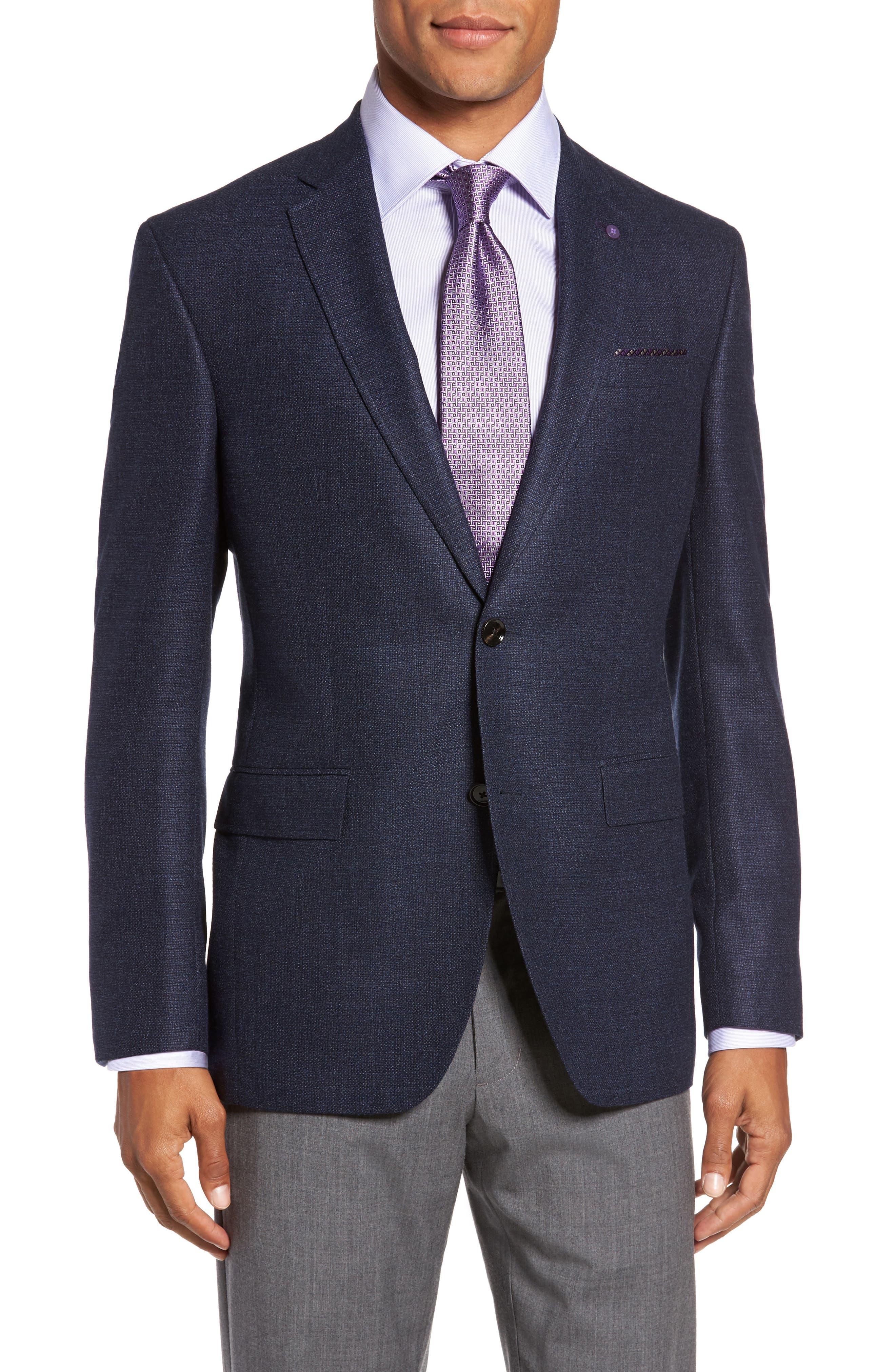 Trim Fit Wool Blazer,                         Main,                         color, 400